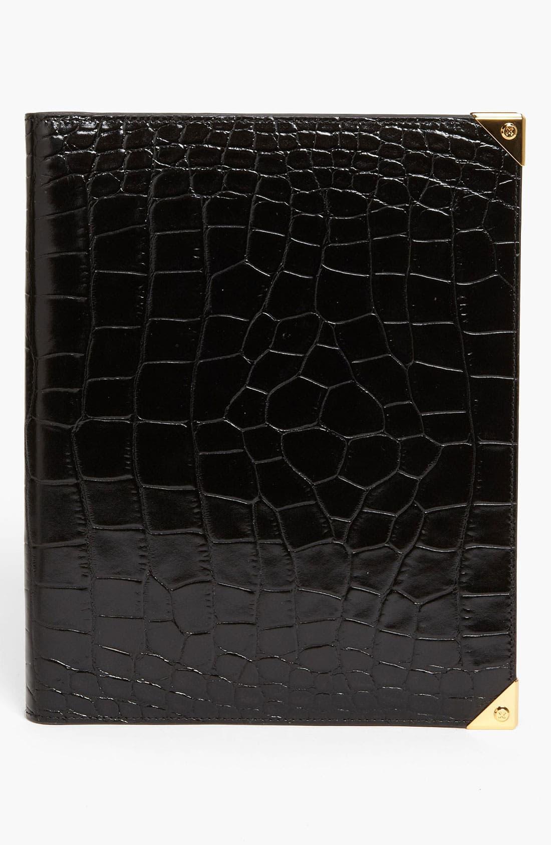 'Prisma' Embossed Leather iPad Case,                         Main,                         color, 001