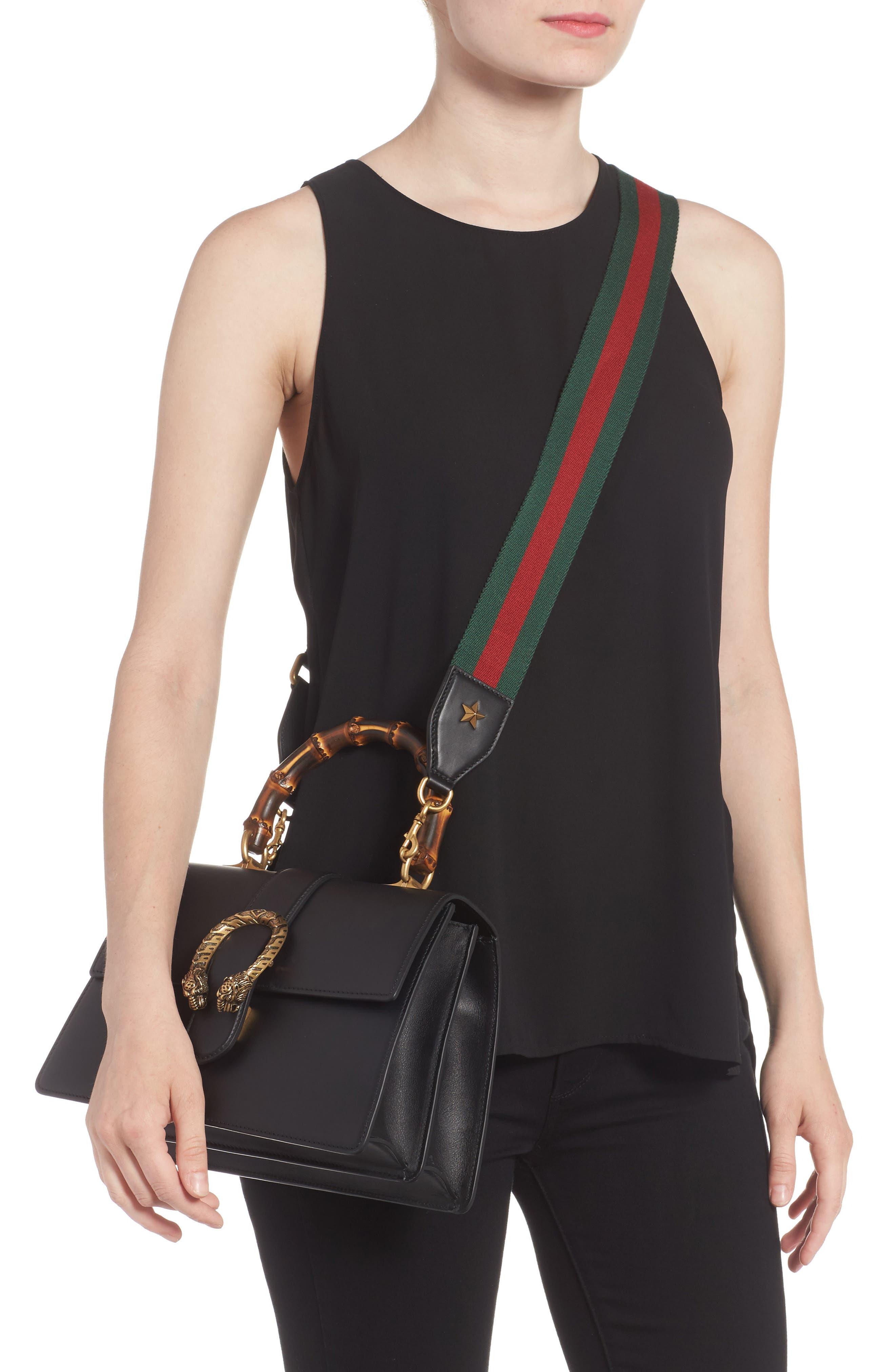 Large Dionysus Top Handle Leather Shoulder Bag,                             Alternate thumbnail 2, color,                             001