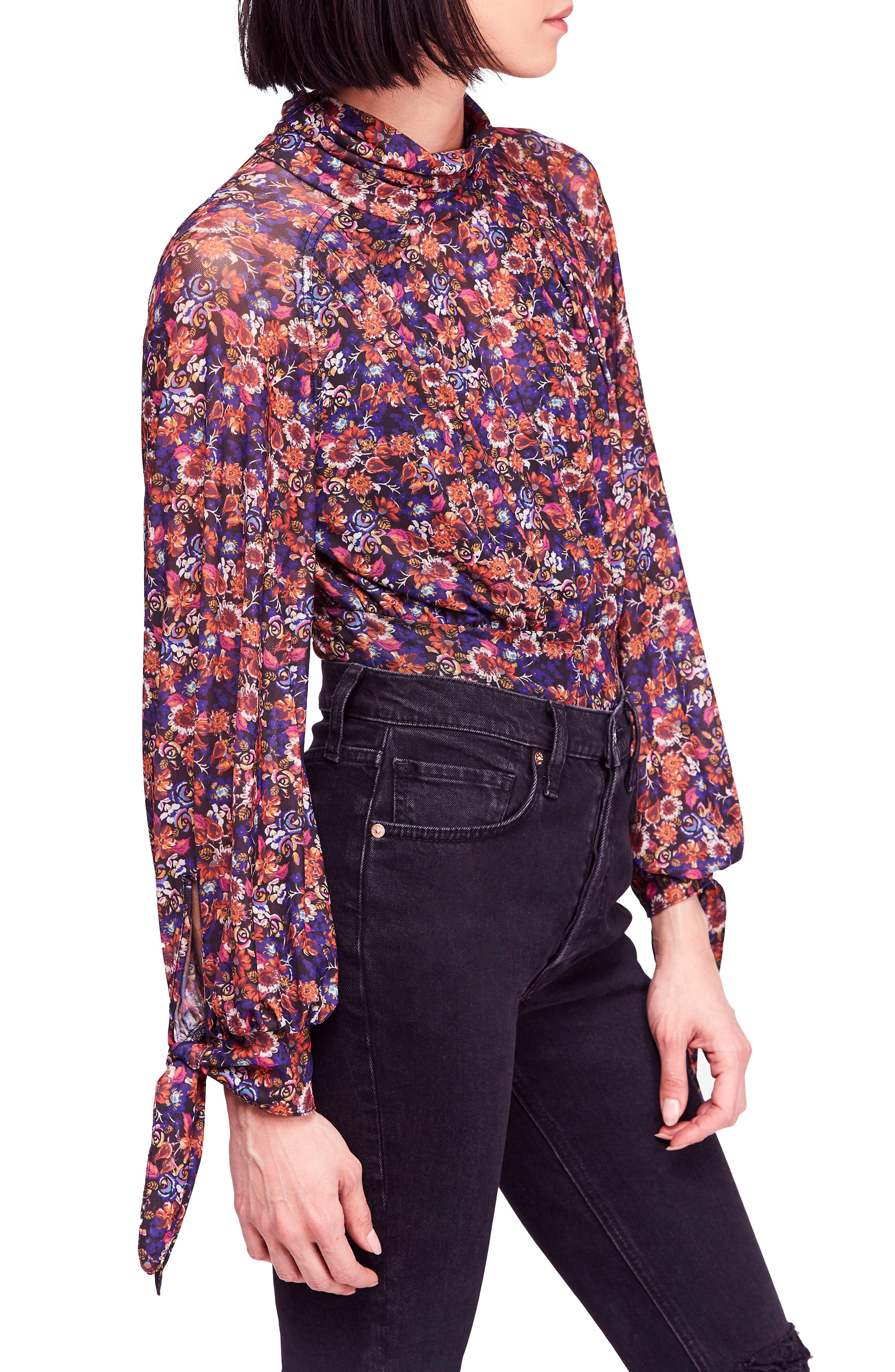 All Dolled Up Blouse,                             Alternate thumbnail 3, color,                             BLACK COMBO