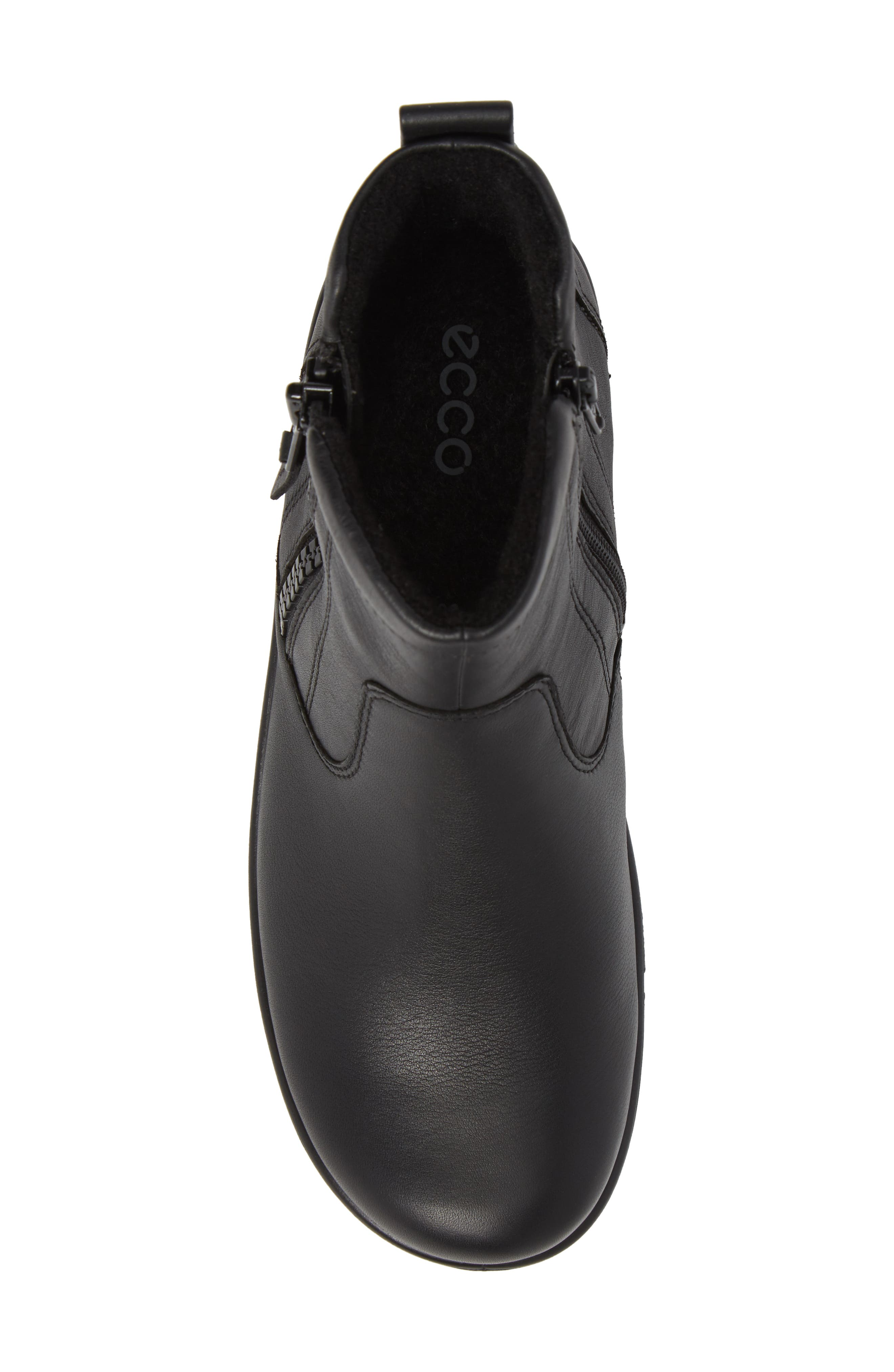Babett Gore-Tex<sup>®</sup> Bootie,                             Alternate thumbnail 5, color,                             BLACK LEATHER