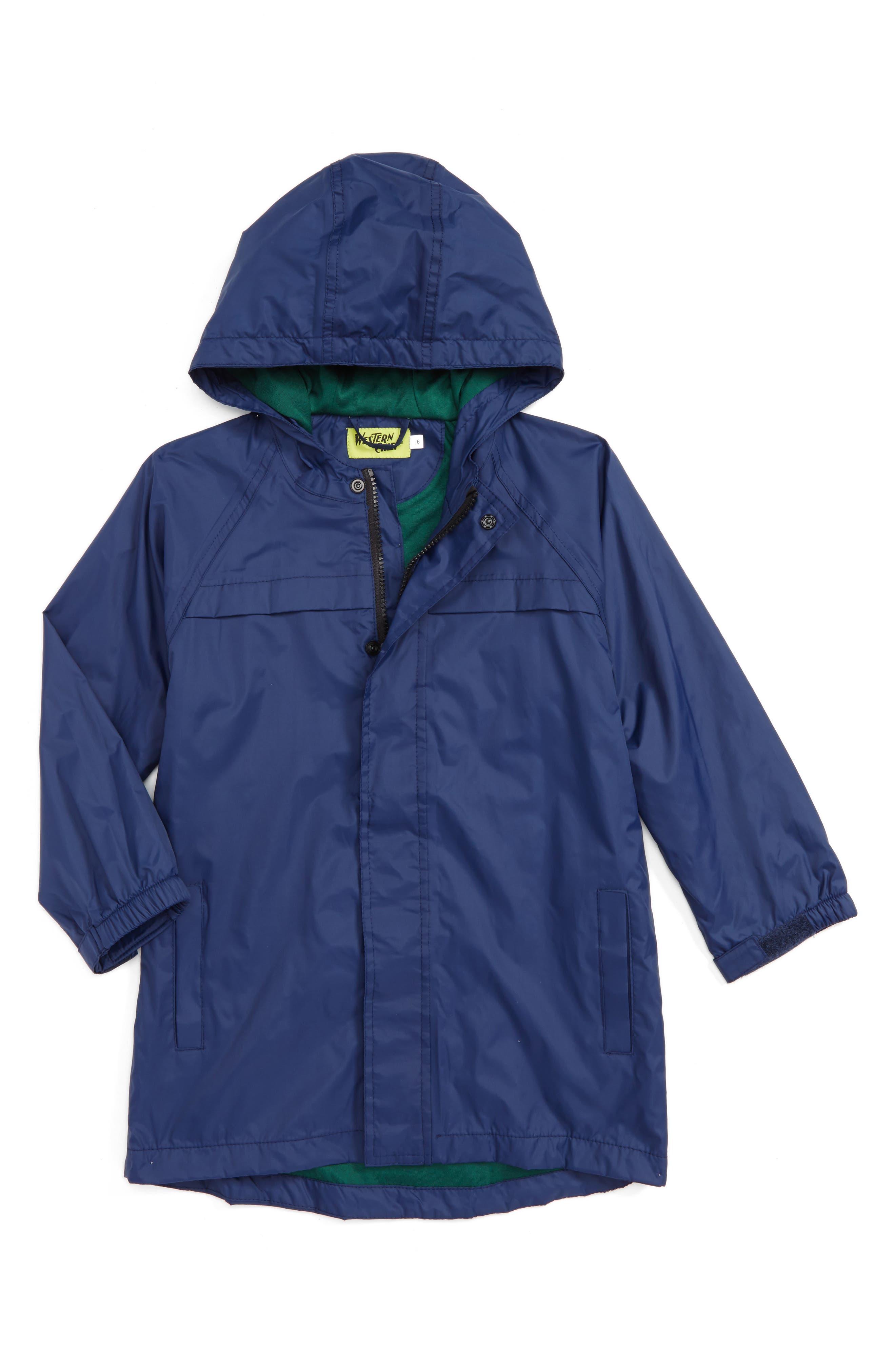 Raincoat,                             Main thumbnail 1, color,                             NAVY