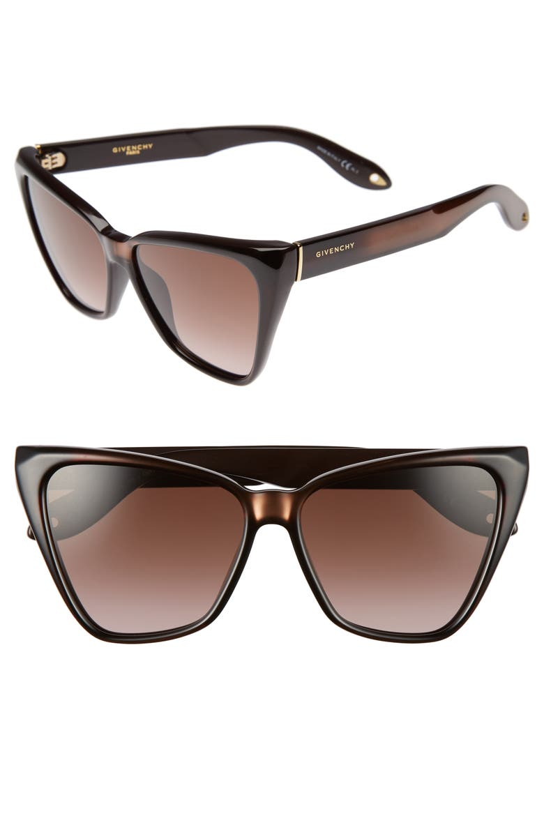 a7b57d642ef Givenchy 57mm Cat Eye Sunglasses