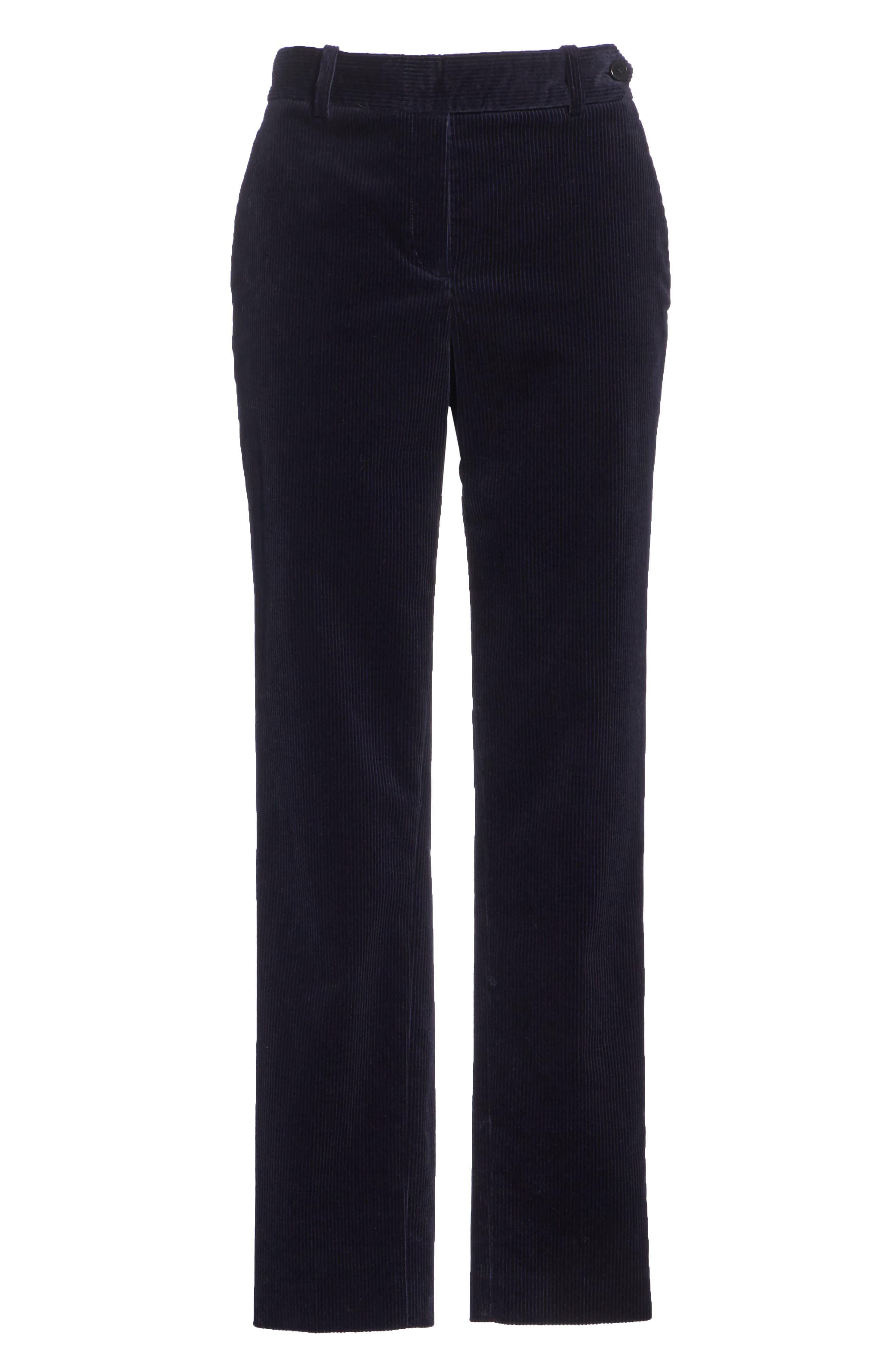 Slim Corduroy Trousers,                             Alternate thumbnail 6, color,                             DEEP NAVY