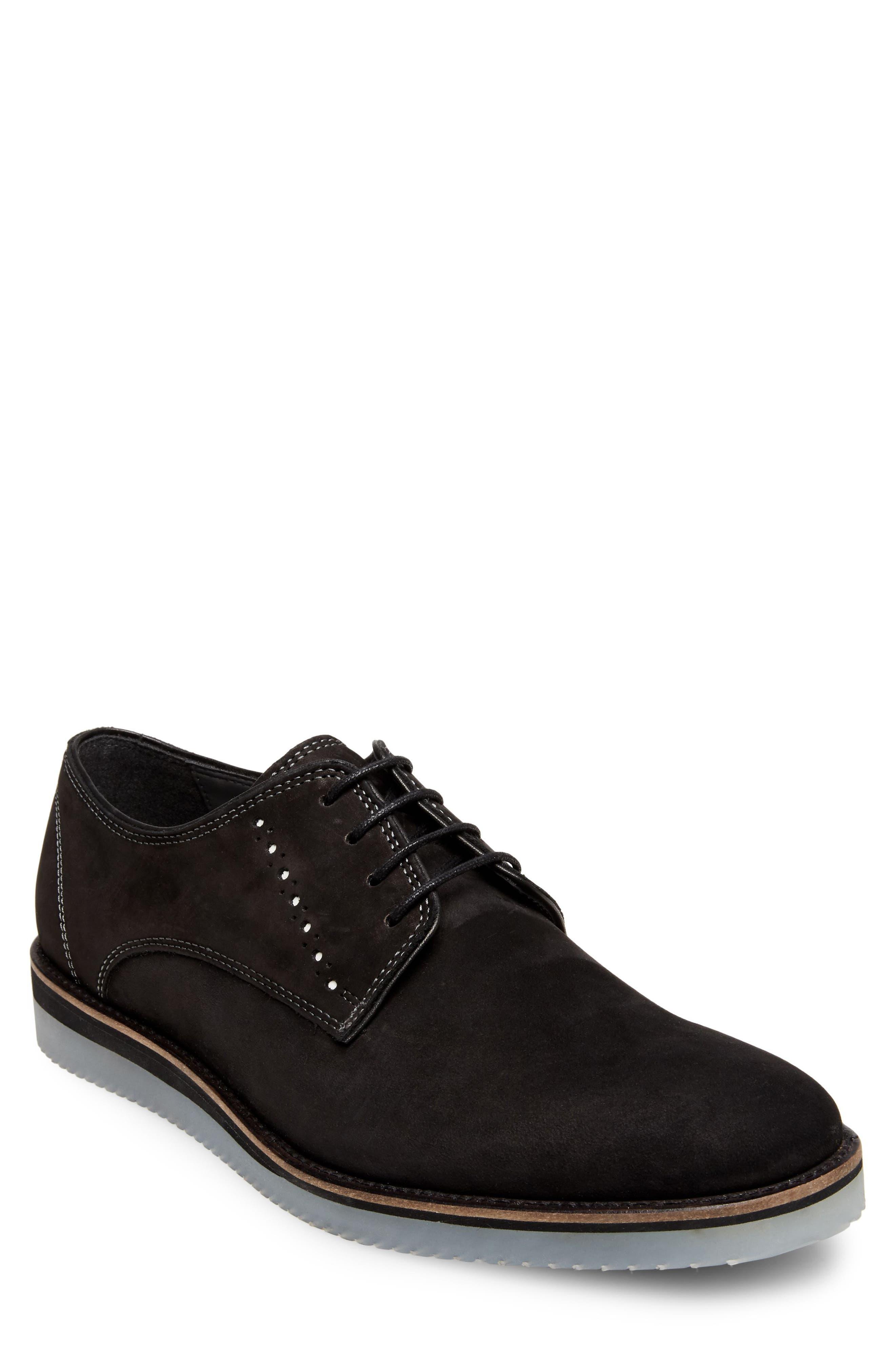 Inquest Plain Toe Derby,                         Main,                         color, BLACK NUBUCK