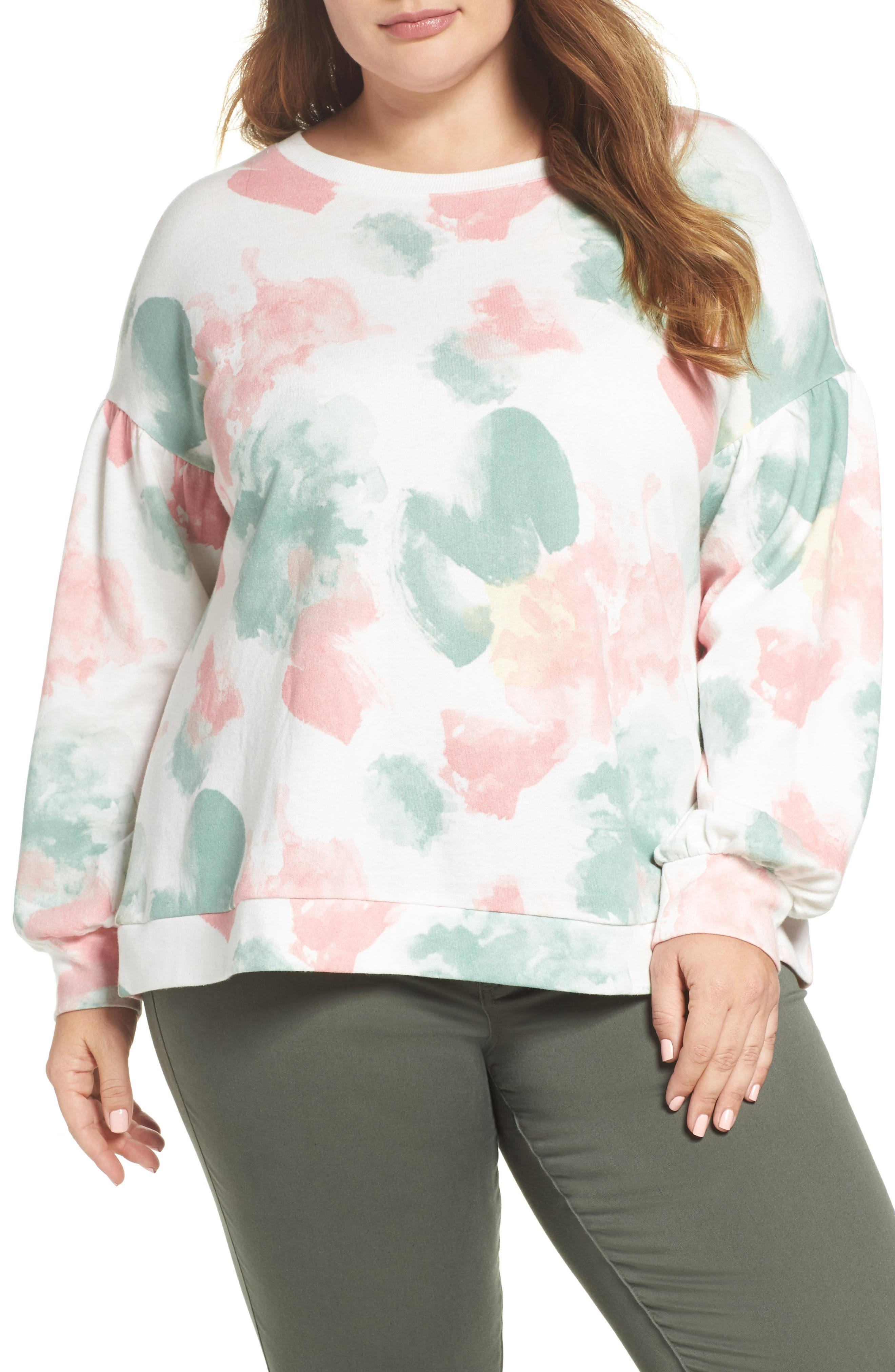 Blouson Sleeve Sweatshirt,                         Main,                         color,