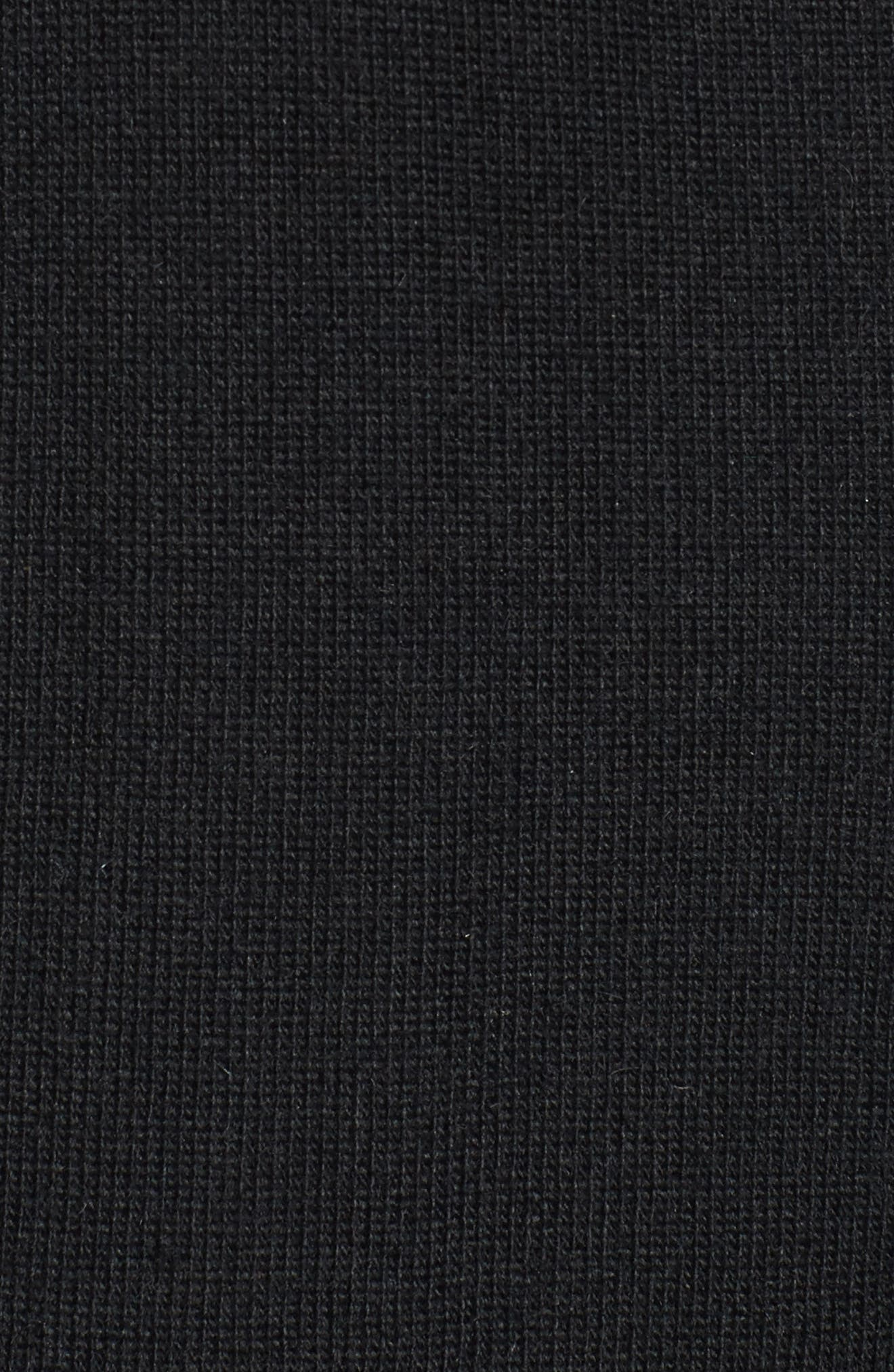 Ruffle Sleeve Longline Cardigan,                             Alternate thumbnail 5, color,                             001