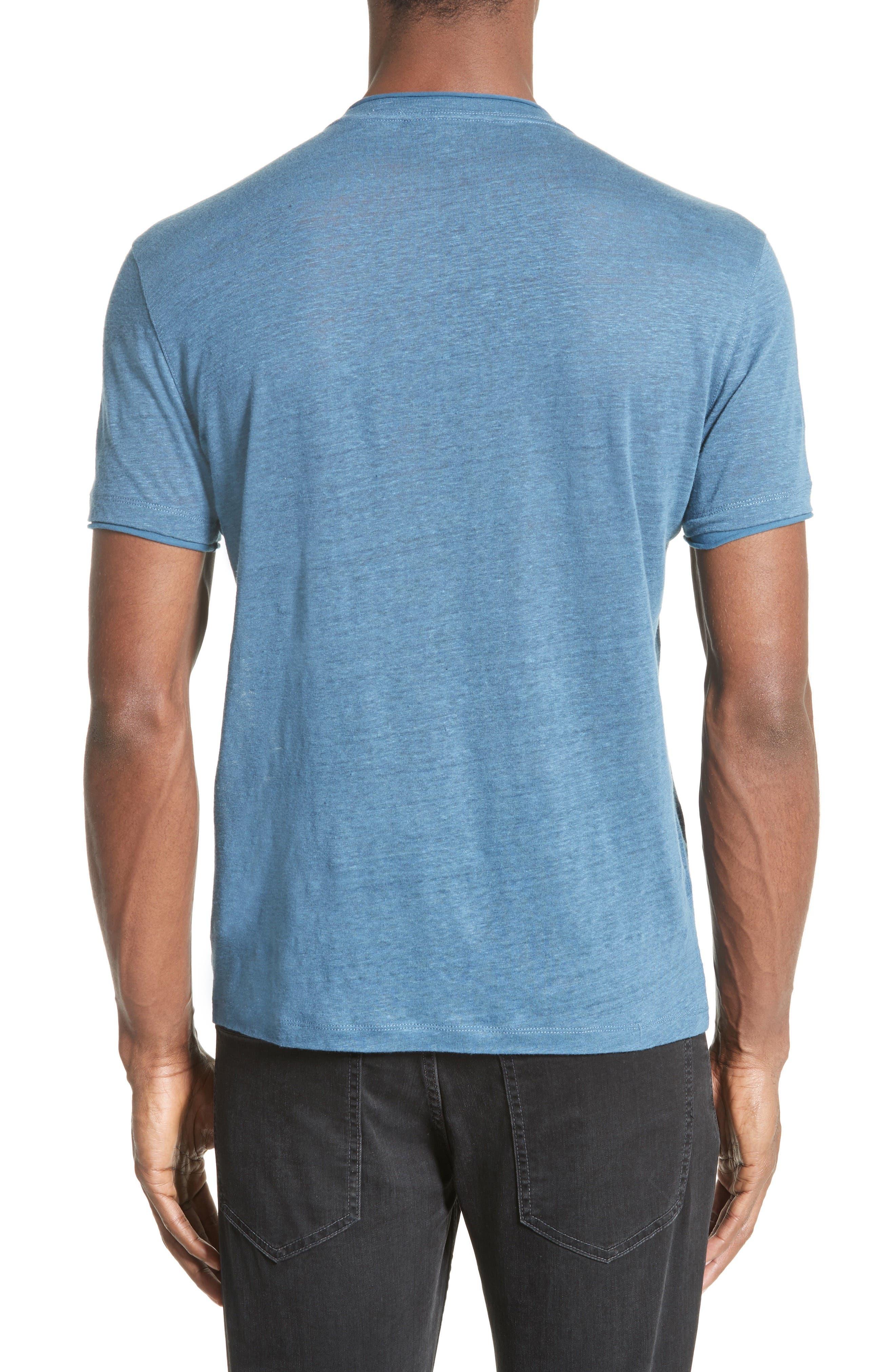 Linen T-Shirt,                             Alternate thumbnail 2, color,                             428