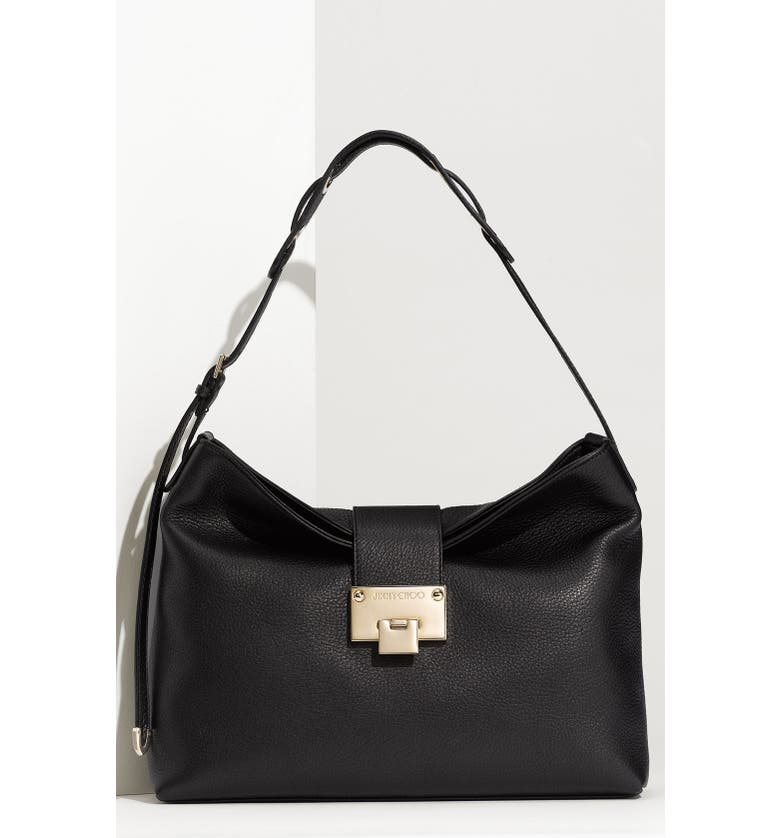 a8d251763f2 Jimmy Choo  Small Rachel  Grainy Calfskin Leather Shoulder Bag ...