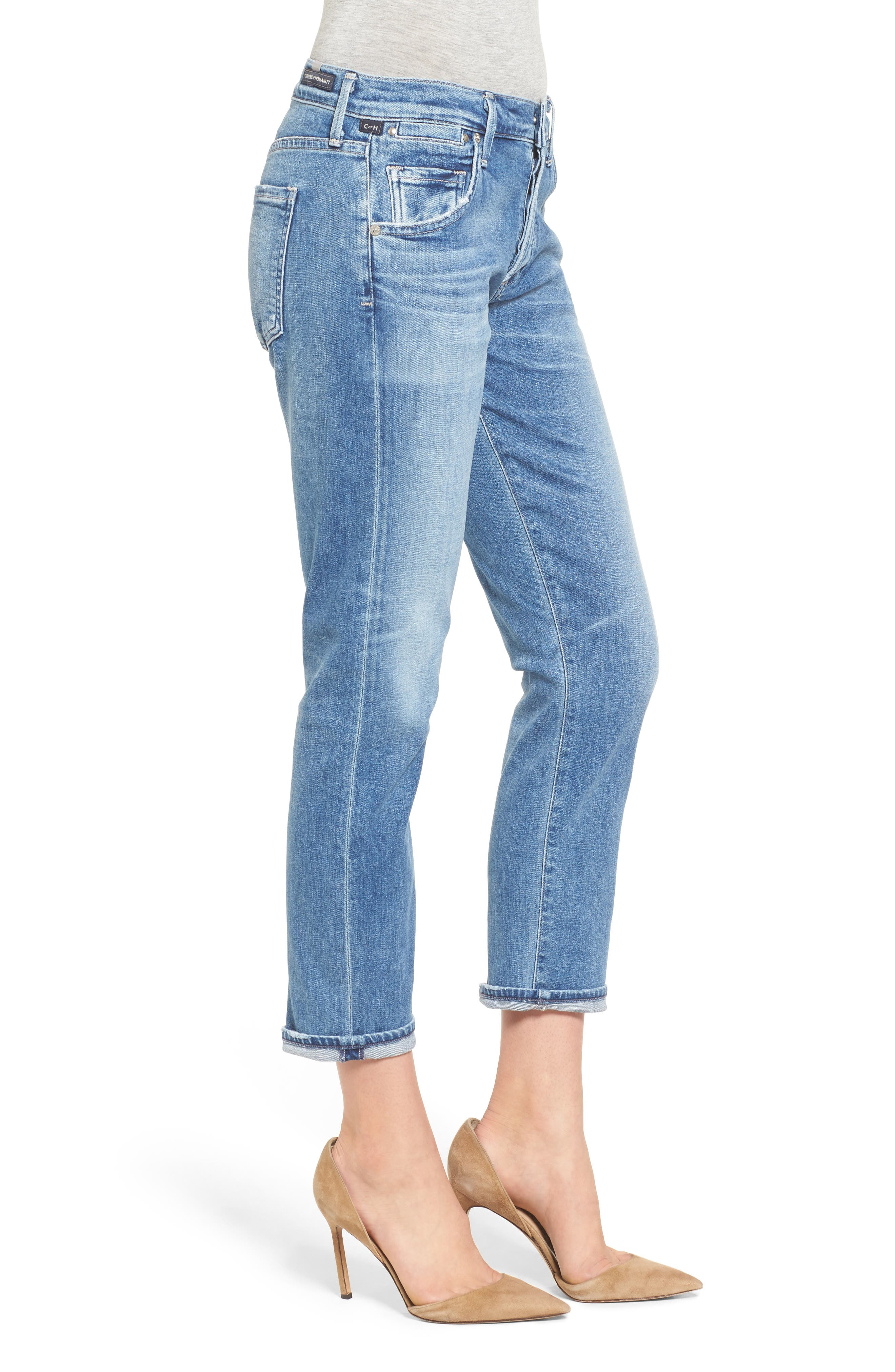 Emerson Slim Boyfriend Jeans,                             Alternate thumbnail 3, color,                             424