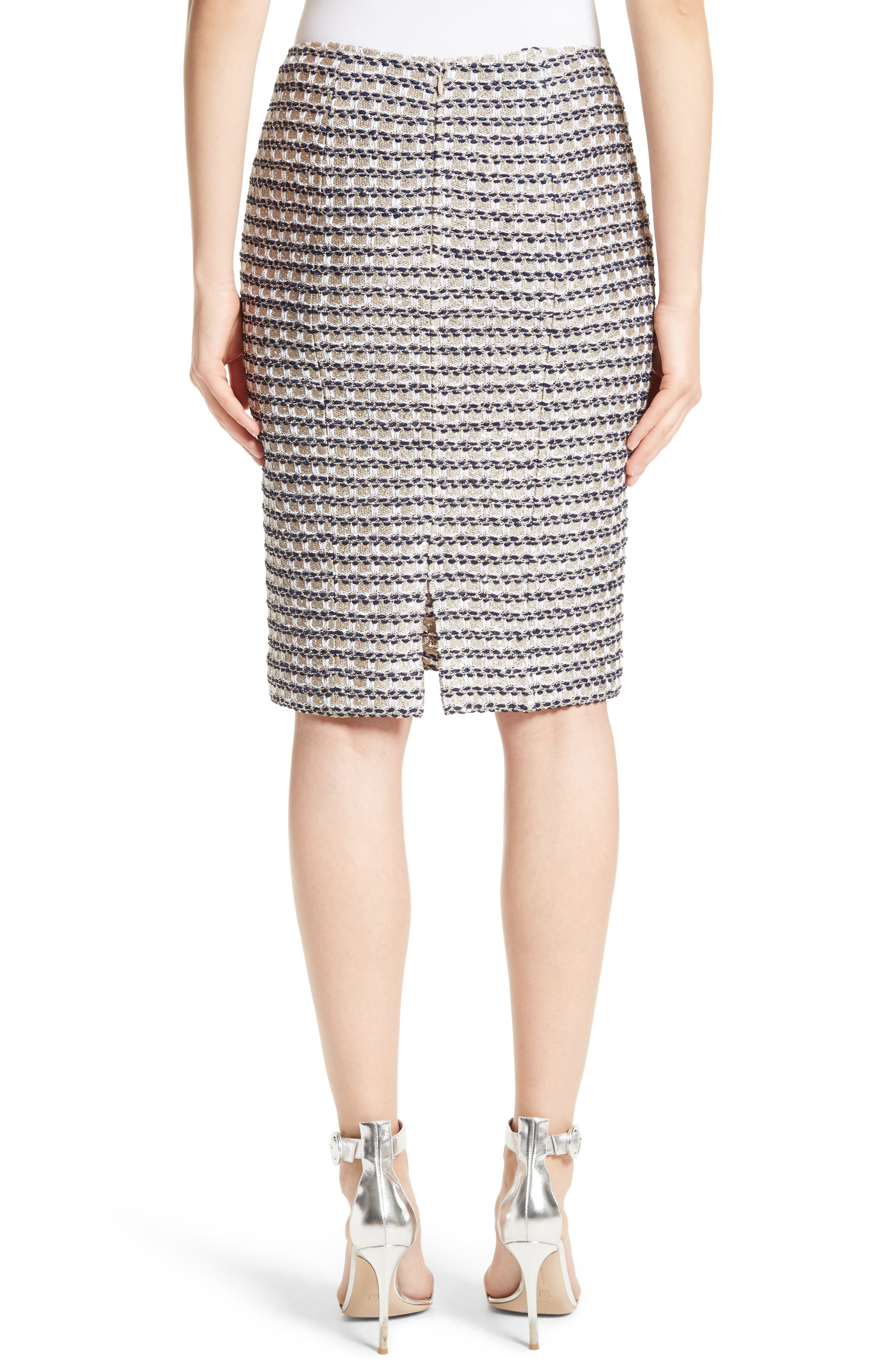 Vany Tweed Knit Pencil Skirt,                             Alternate thumbnail 2, color,                             040