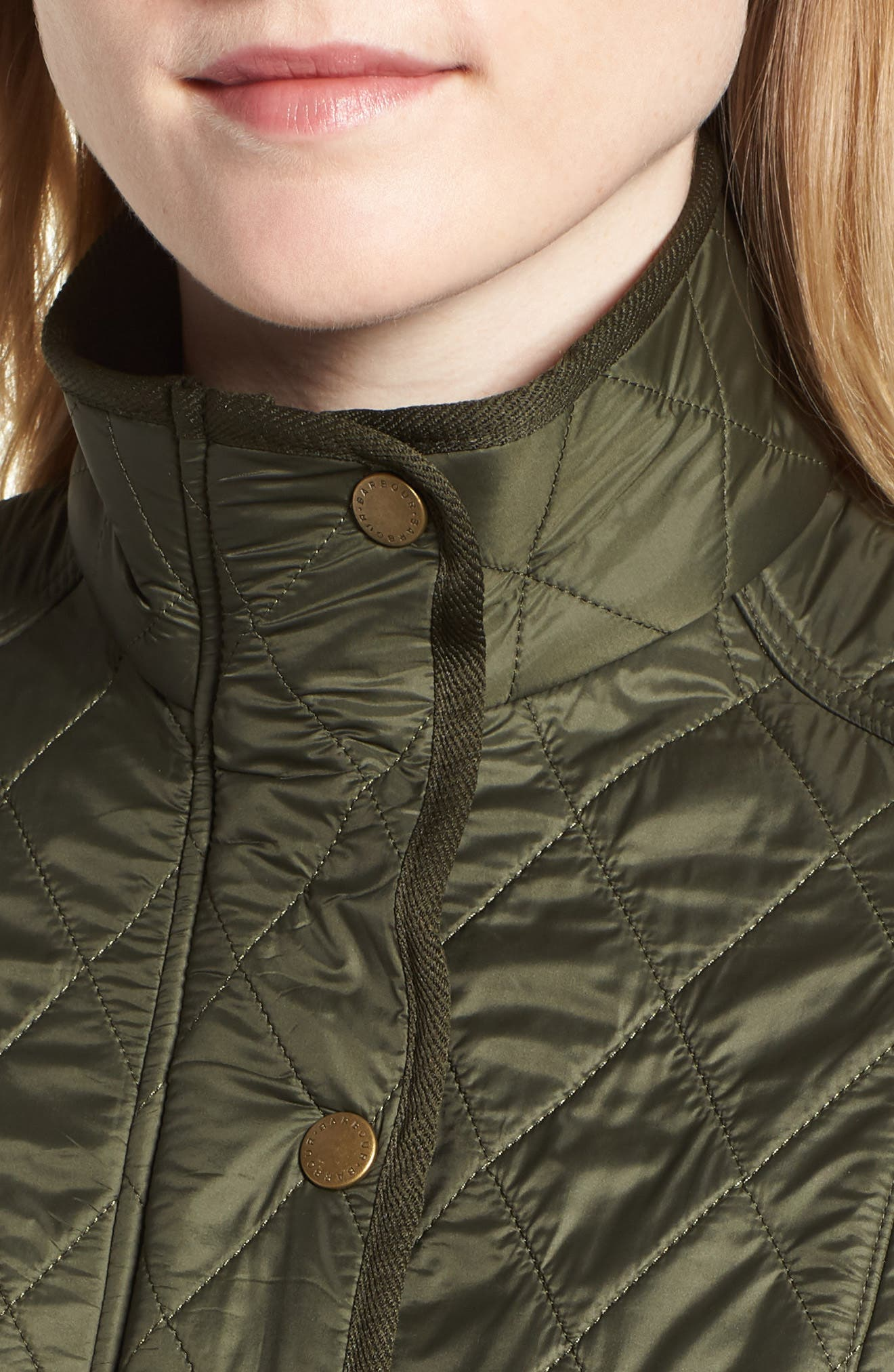 'Cavalry' Quilted Vest,                             Alternate thumbnail 4, color,                             OLIVE/ OLIVE
