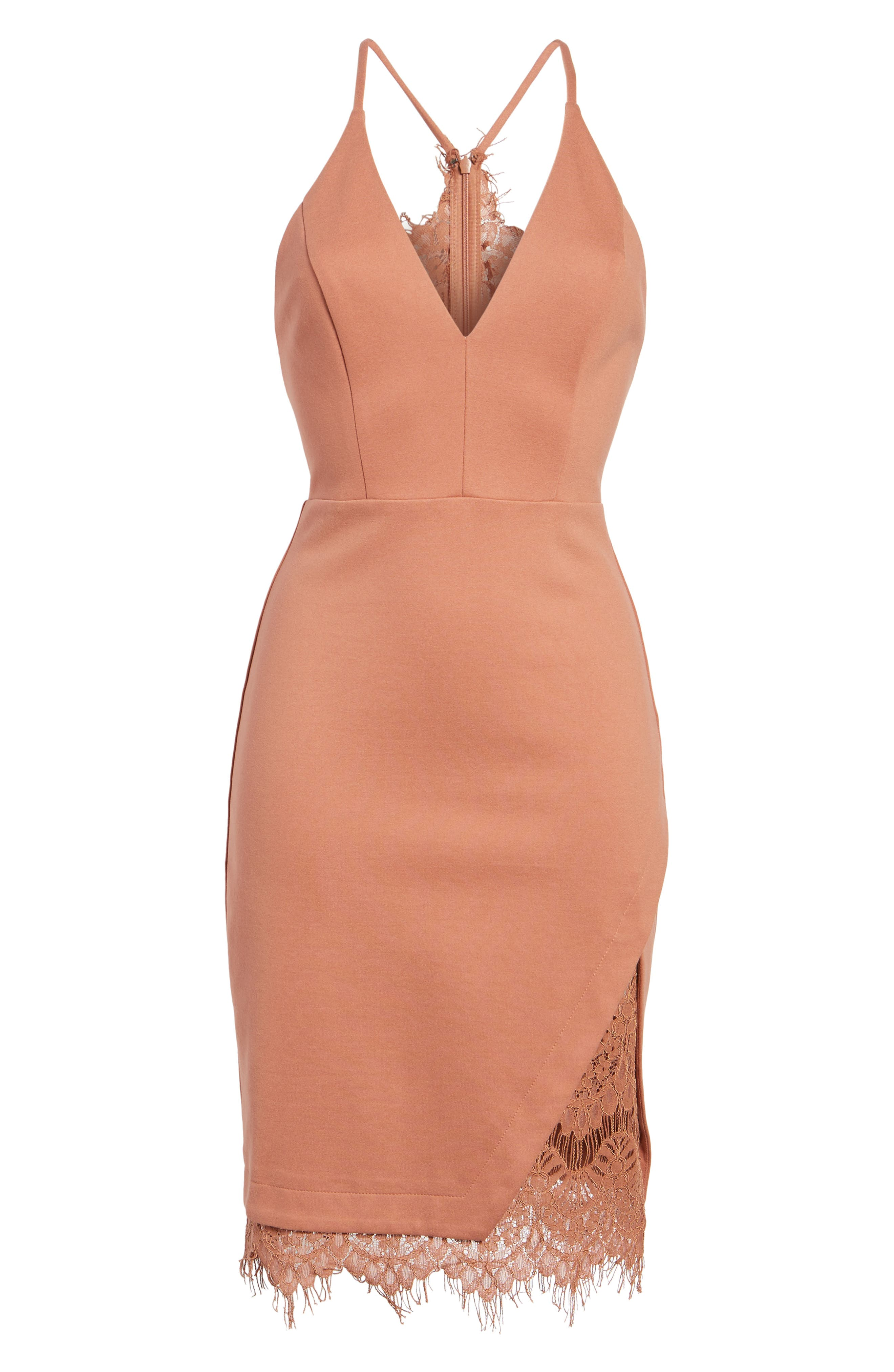 Lace Body-Con Dress,                             Alternate thumbnail 22, color,