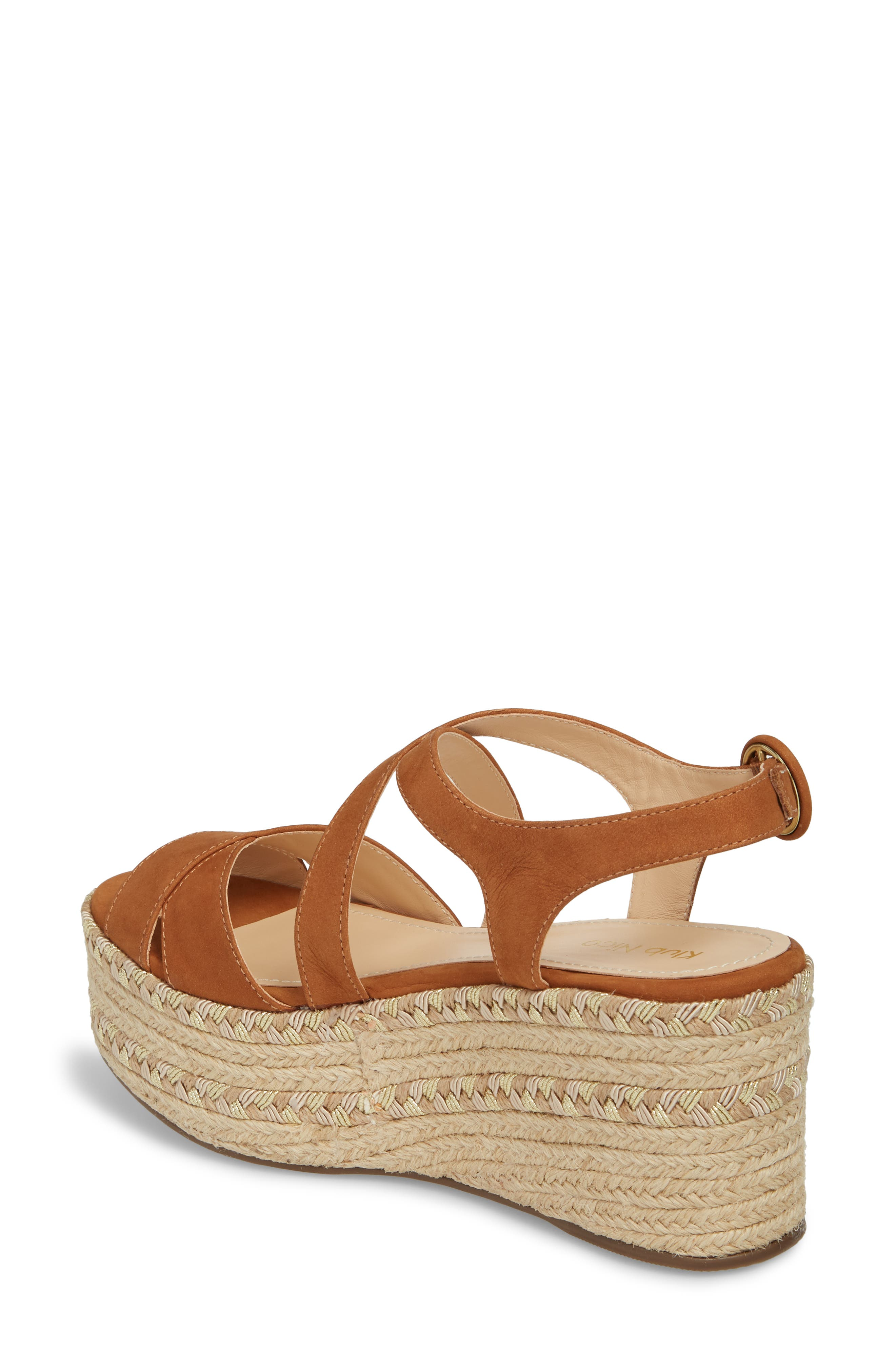 KLUB NICO,                             Vikki Espadrille Platform Sandal,                             Alternate thumbnail 2, color,                             TAN LEATHER