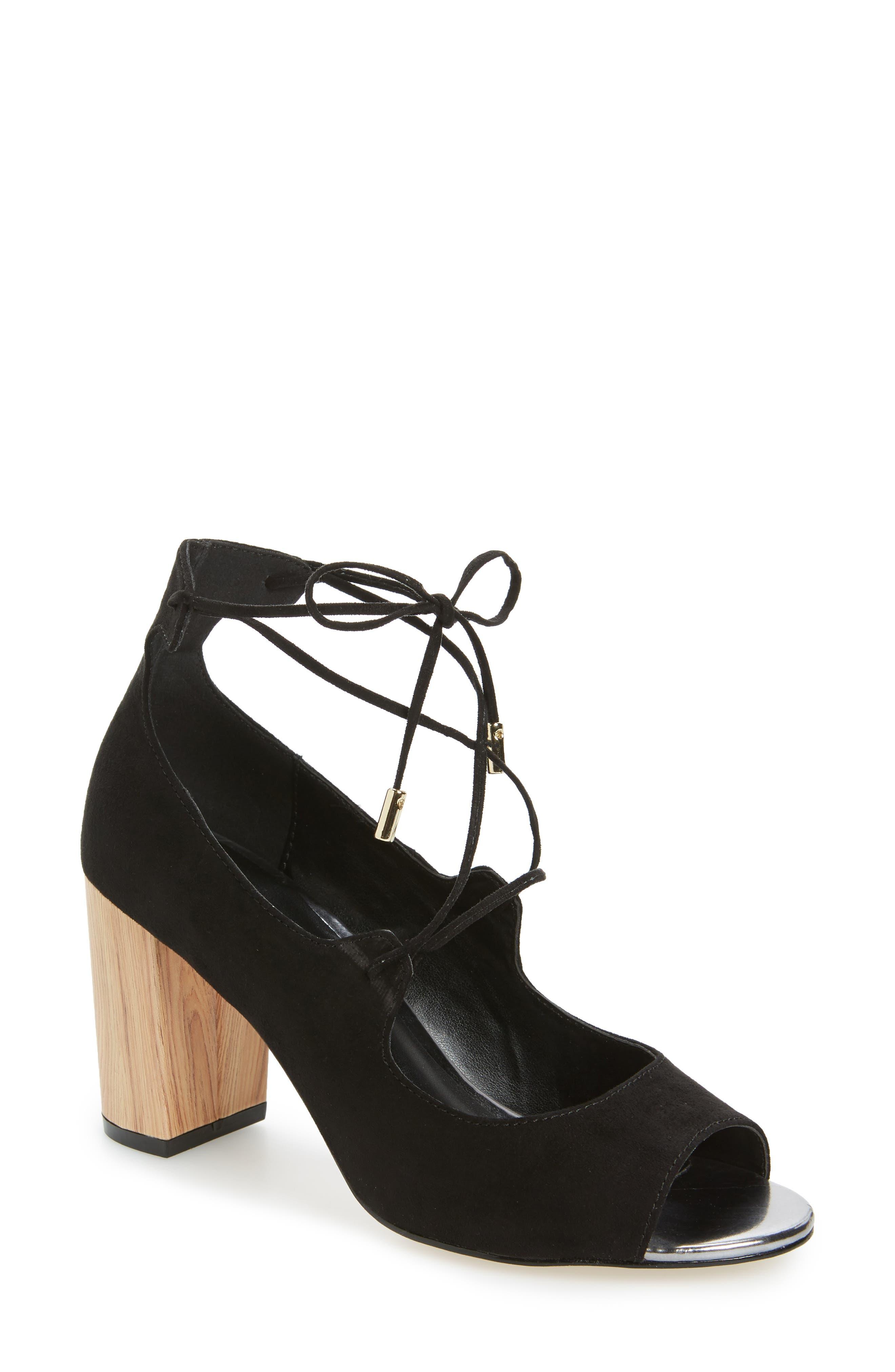 Vikki Block Heel Sandal,                             Main thumbnail 1, color,                             003