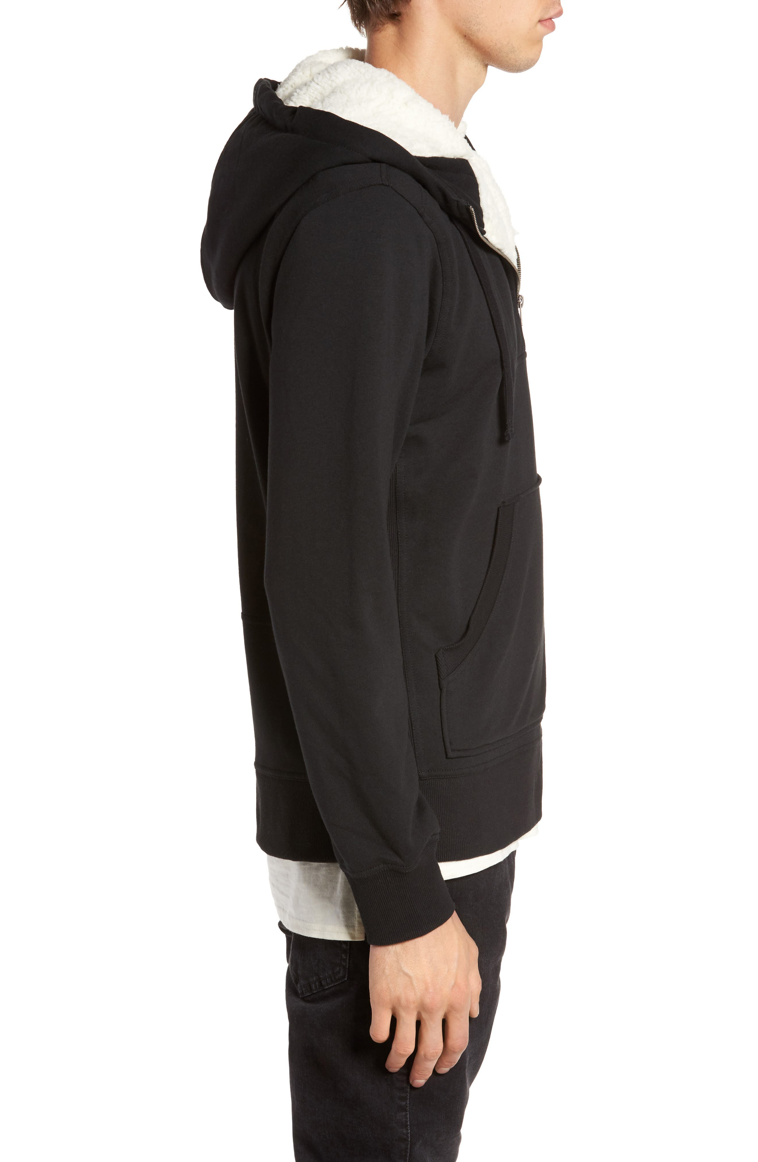Fleece Lined Hoodie,                             Alternate thumbnail 3, color,                             001