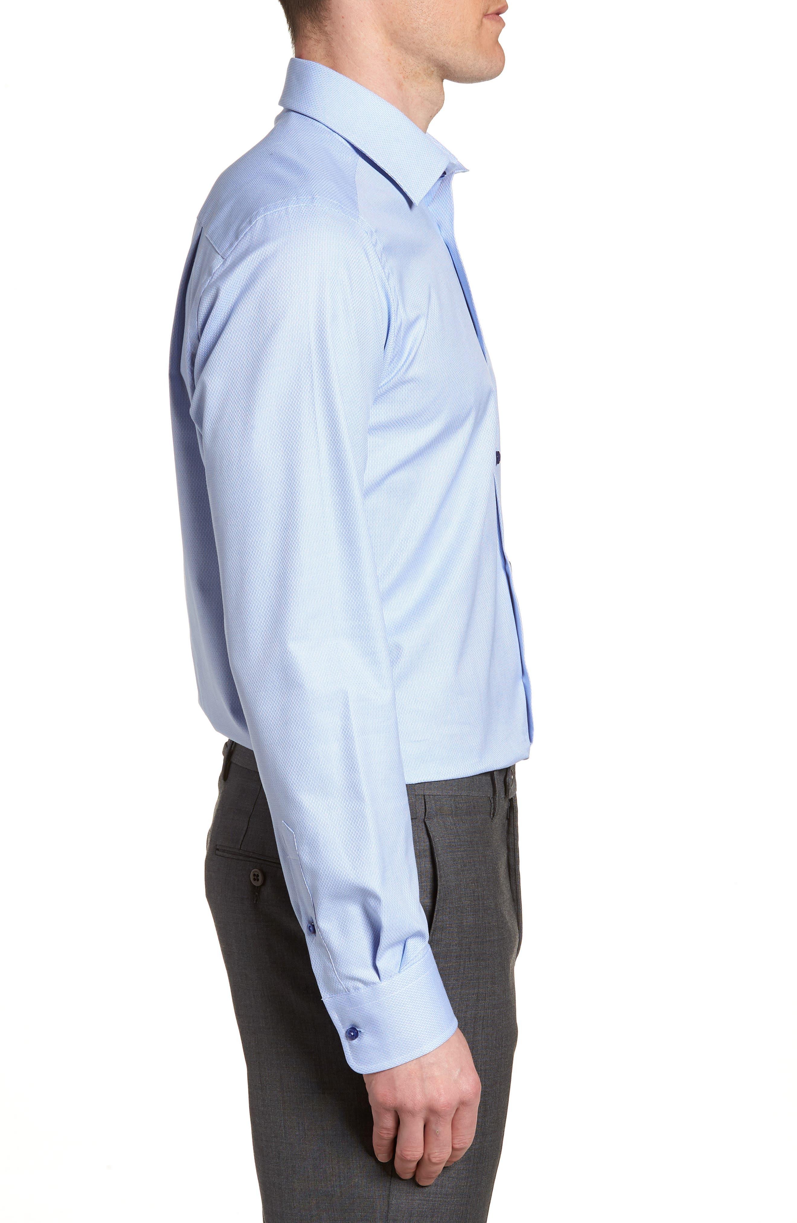 Trim Fit Solid Dress Shirt,                             Alternate thumbnail 4, color,                             423