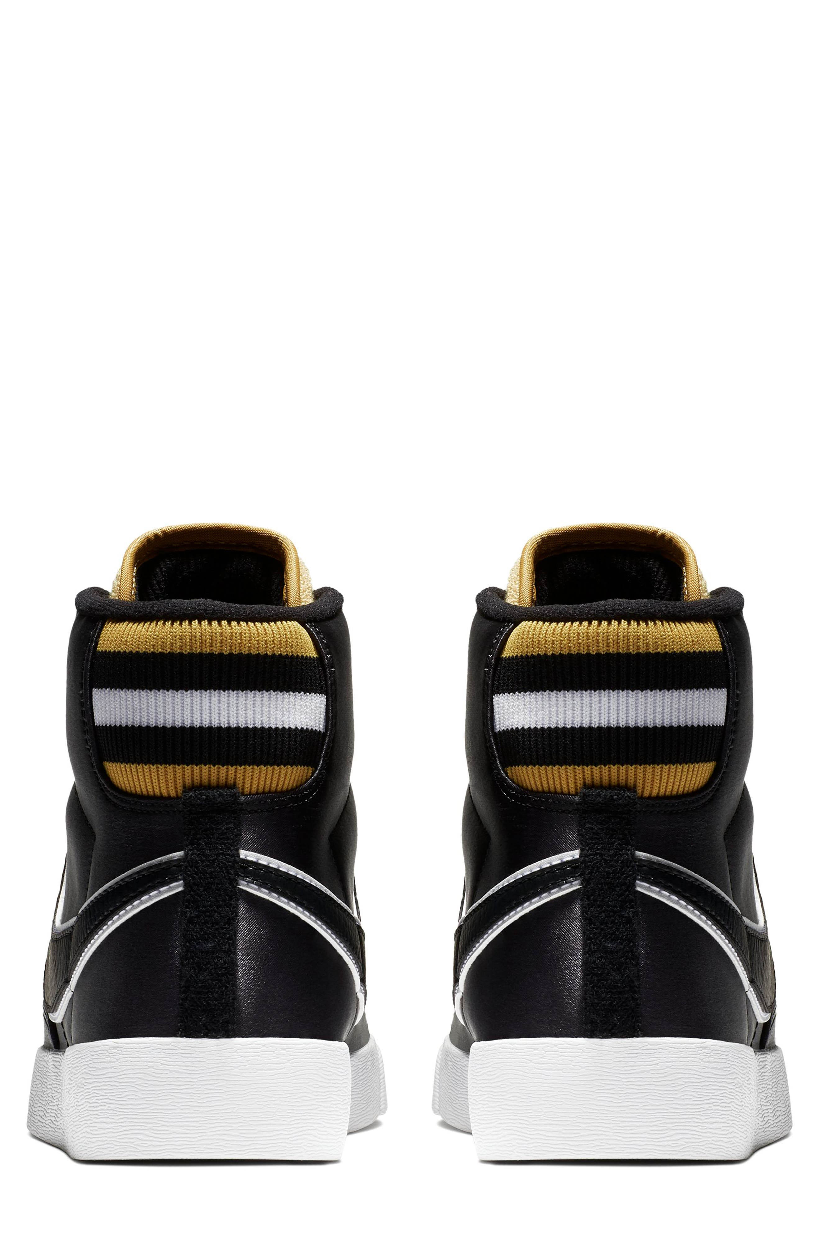 Blazer Mid Top Sneaker,                             Alternate thumbnail 2, color,                             BLACK/ BLACK