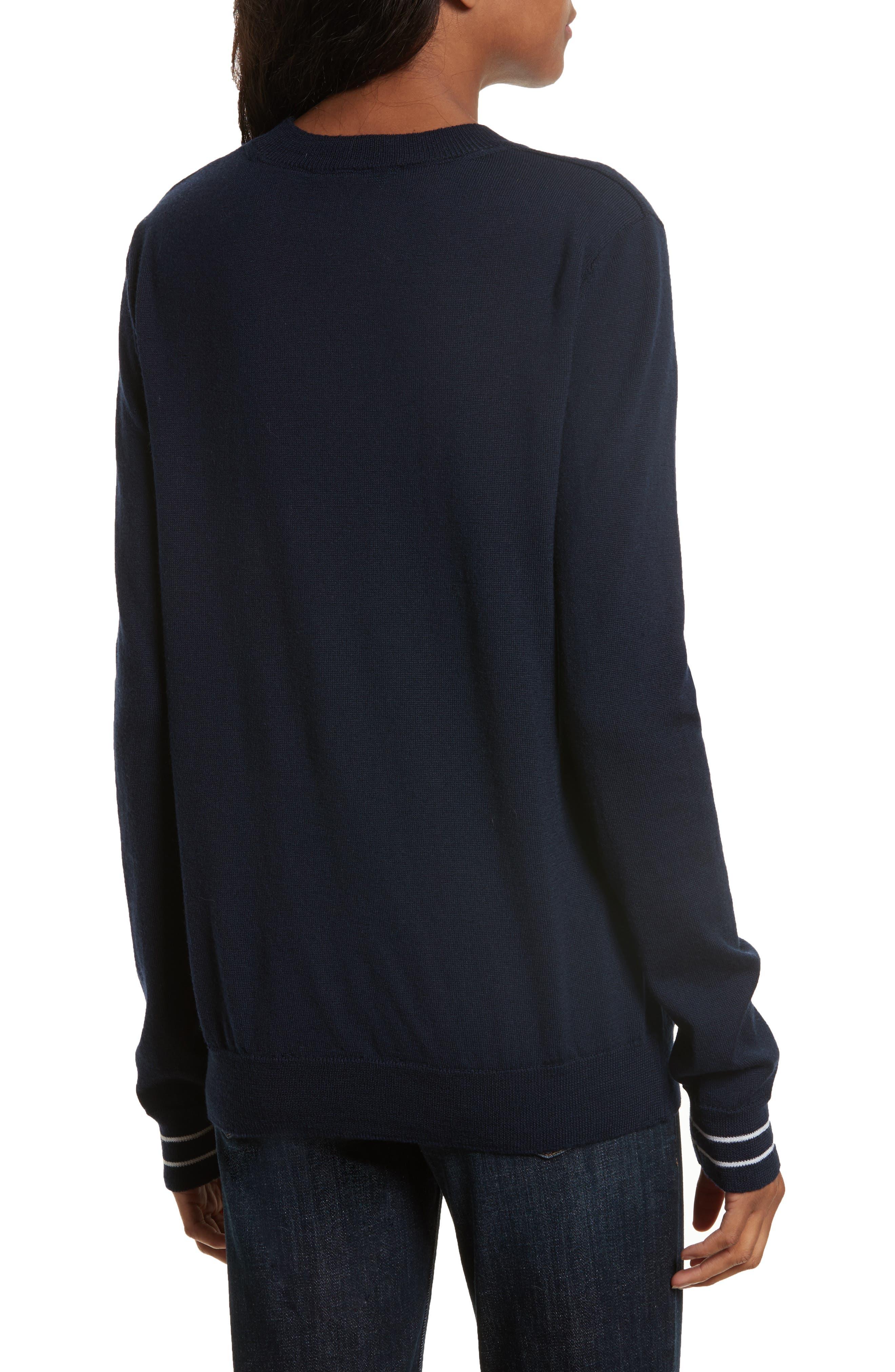être cécile Boyfriend Knit Merino Wool Sweater,                             Alternate thumbnail 2, color,                             400
