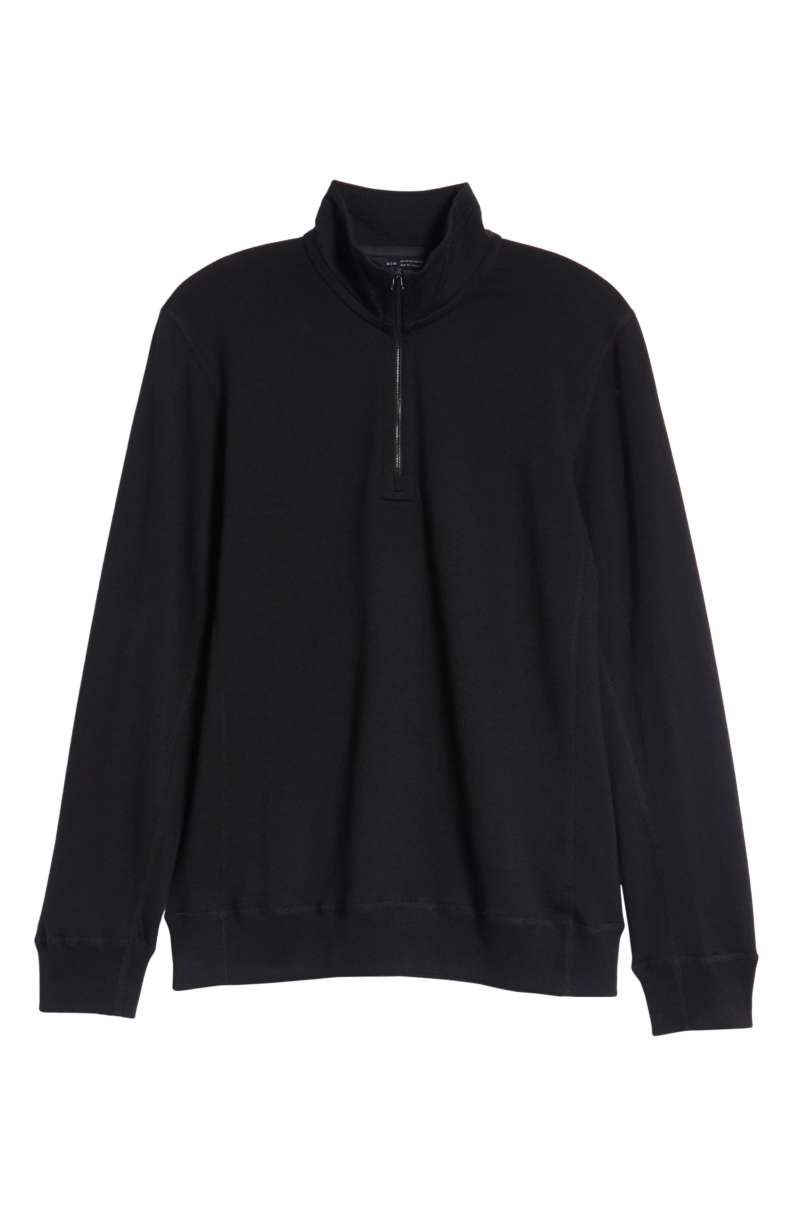Swedish Merino Wool Trail Shirt,                             Alternate thumbnail 6, color,                             BLACK