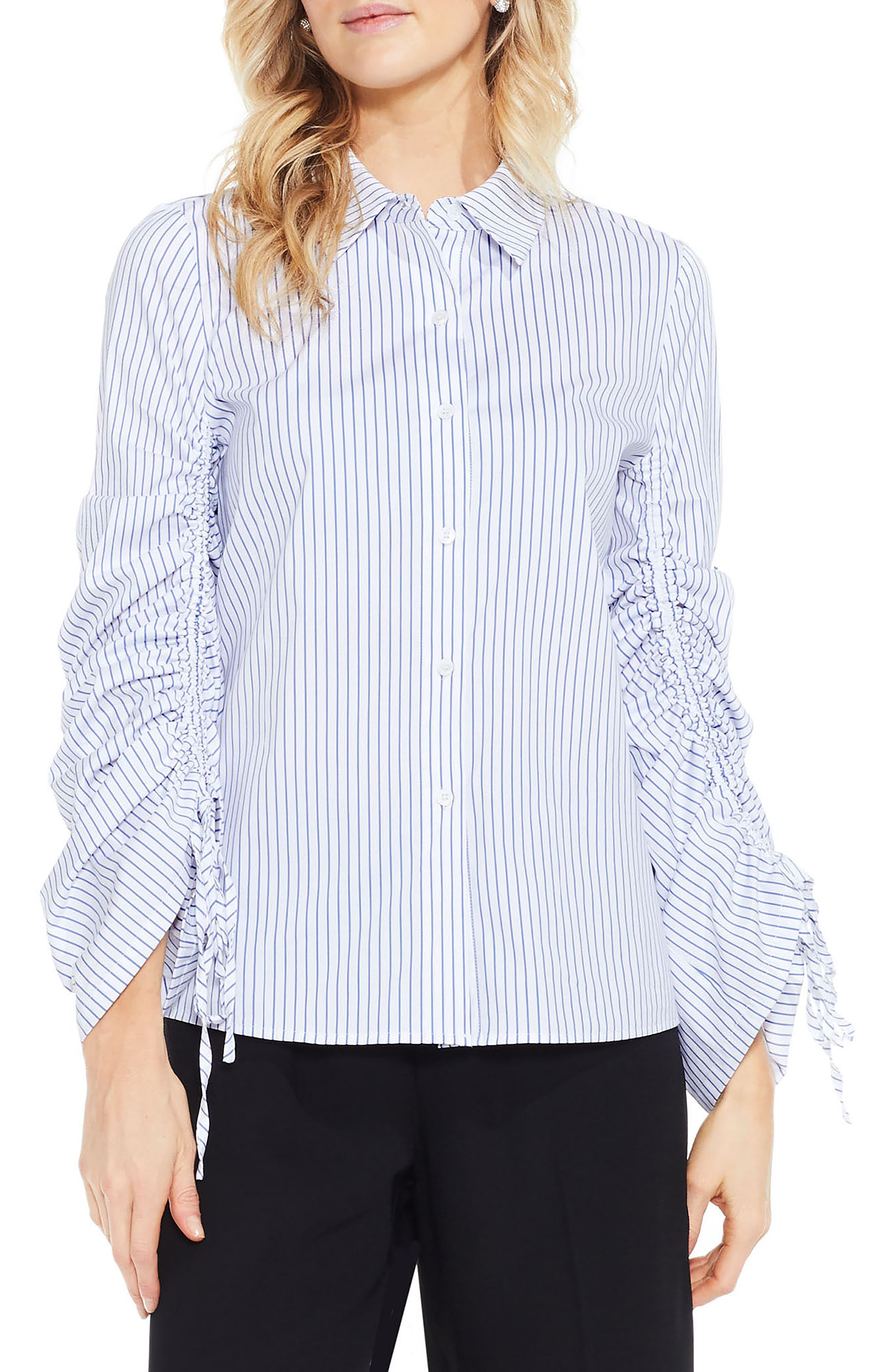 Simple Stripe Shirt,                             Main thumbnail 1, color,                             145