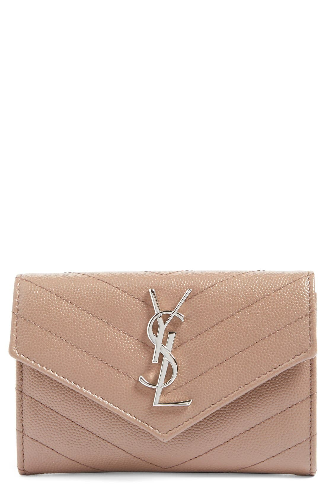'Small Monogram' Leather French Wallet,                             Main thumbnail 7, color,