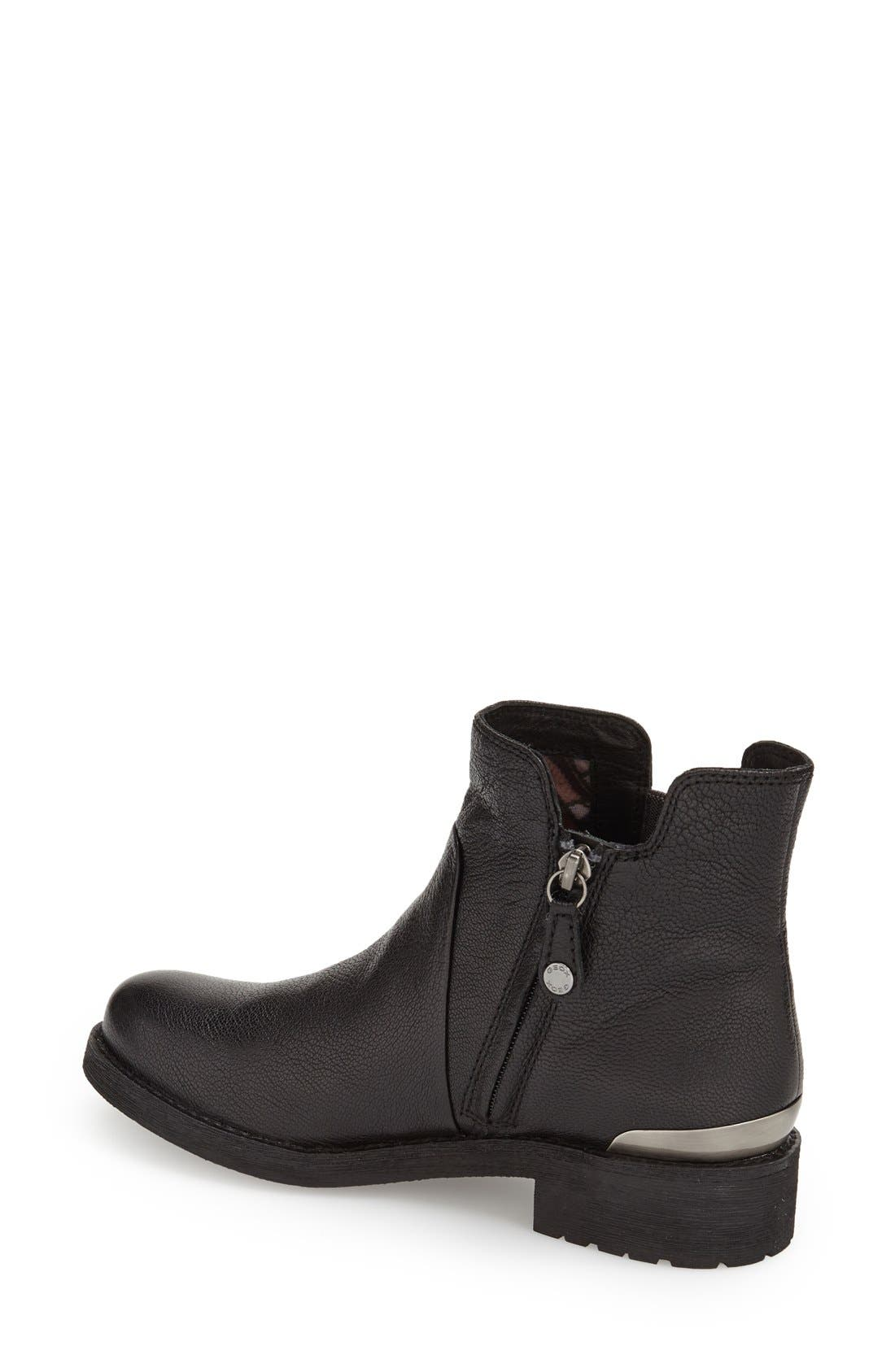 'New Virna' Chelsea Boot,                             Alternate thumbnail 2, color,                             BLACK SMOOTH LEATHER