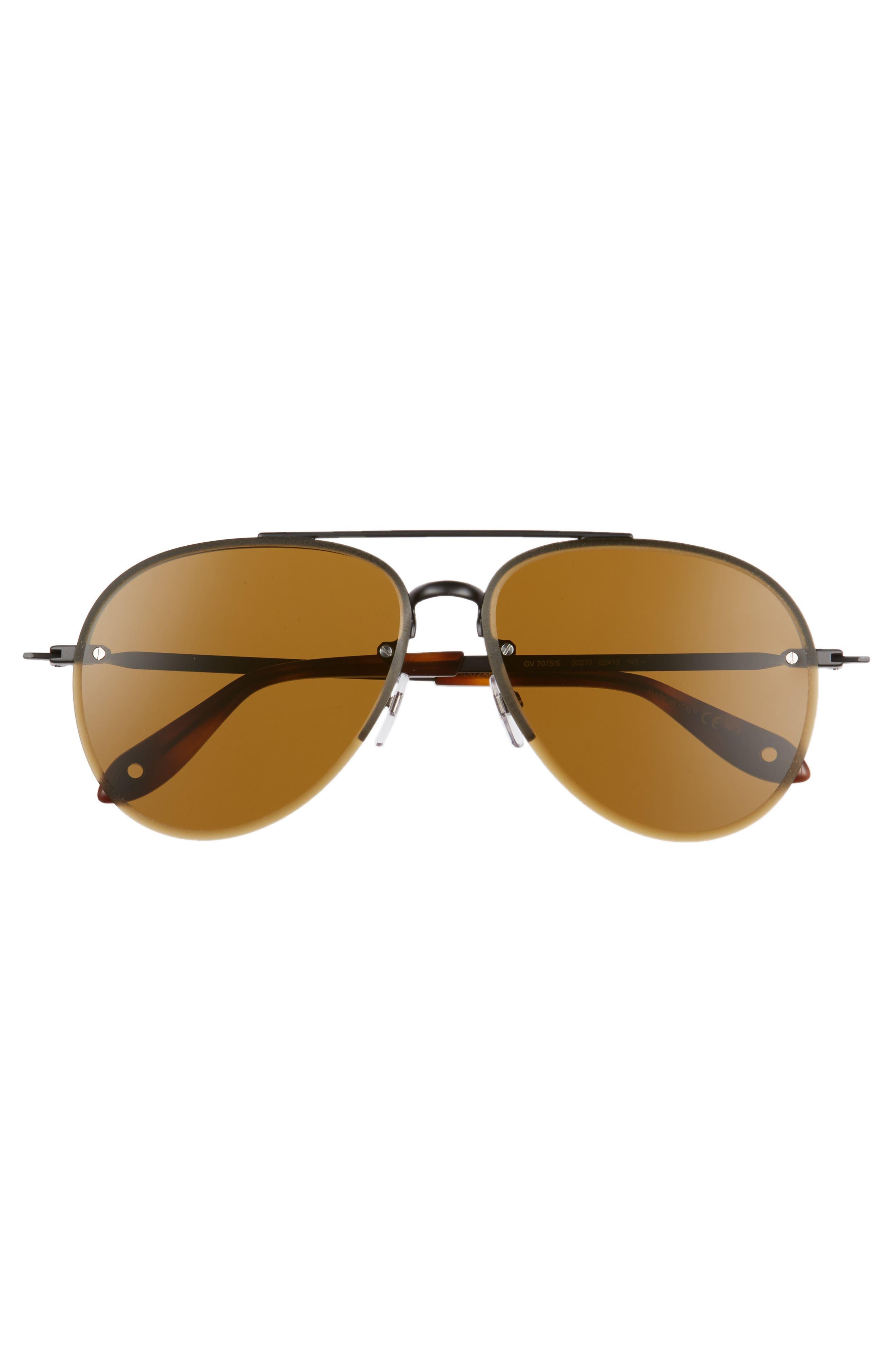 62mm Oversize Aviator Sunglasses,                             Alternate thumbnail 3, color,                             001