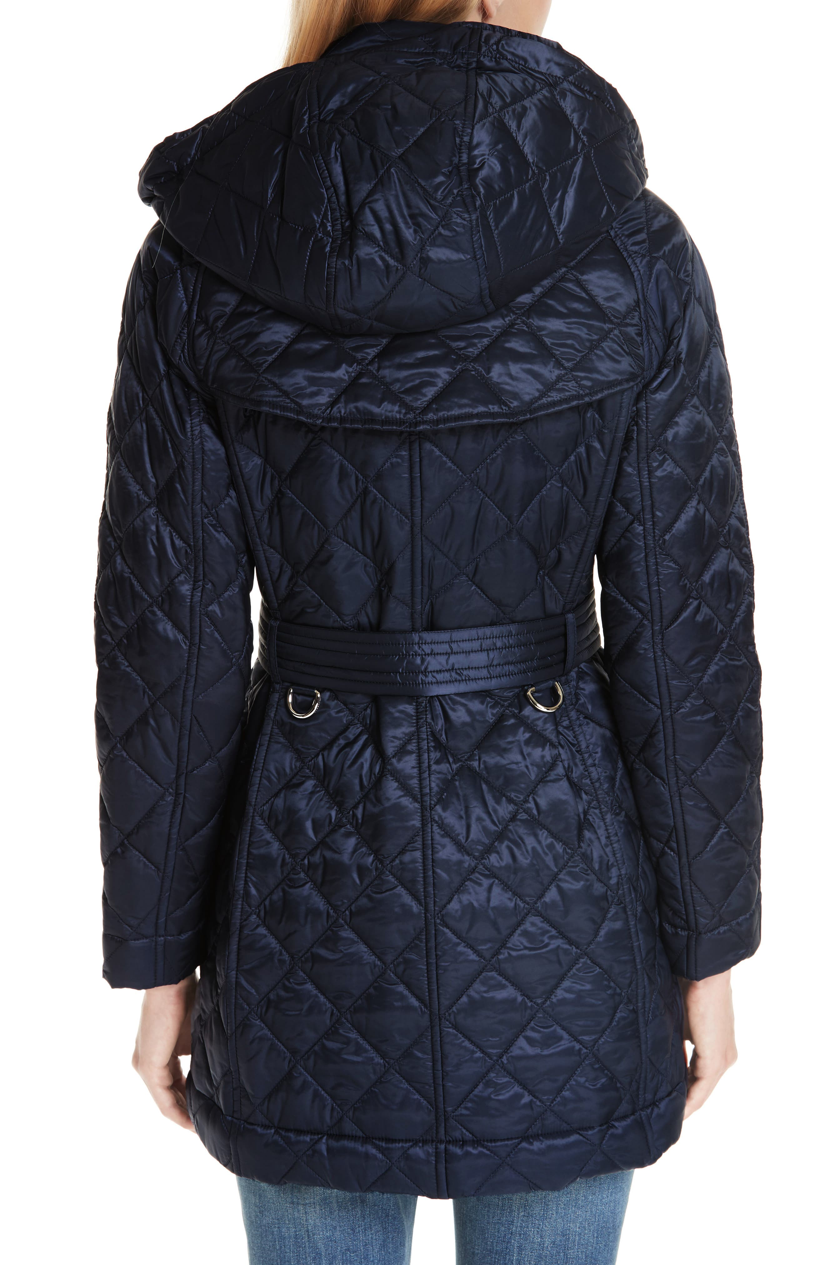 Baughton 18 Quilted Coat,                             Alternate thumbnail 2, color,                             INK
