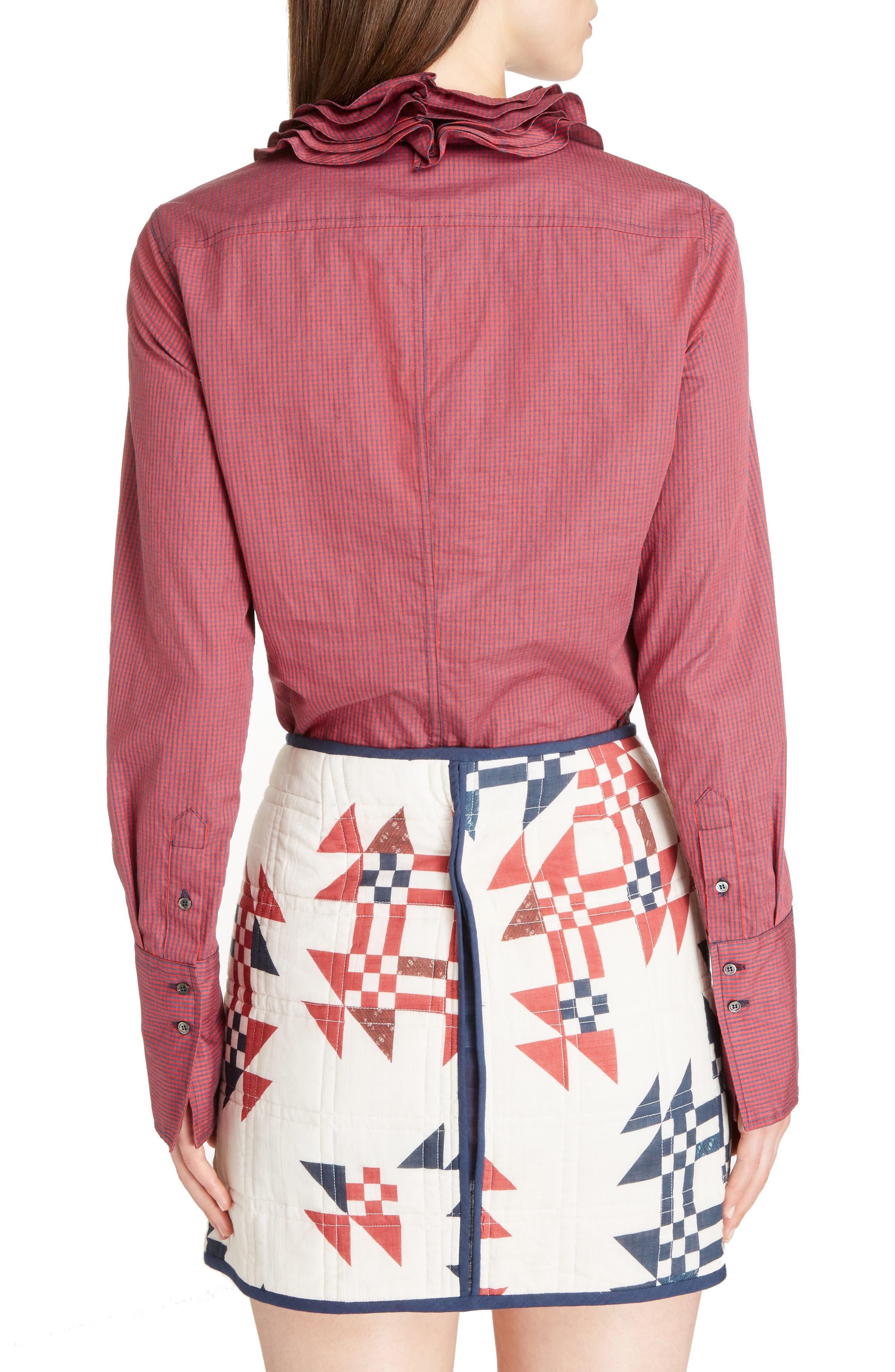 Juliette Mini Gingham Cotton Poplin Shirt,                             Alternate thumbnail 2, color,                             600