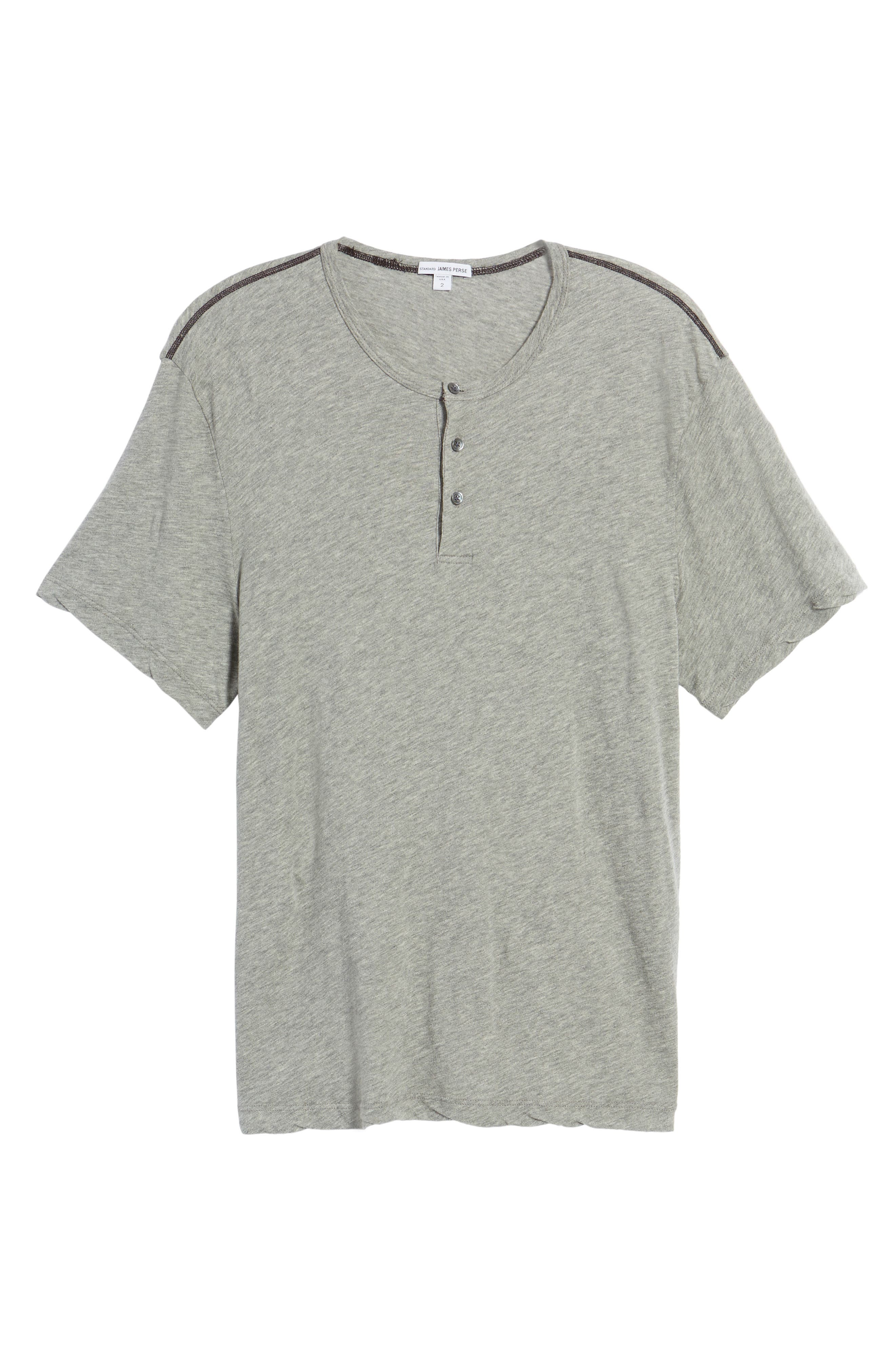 Contrast Stitch Henley T-Shirt,                             Alternate thumbnail 11, color,