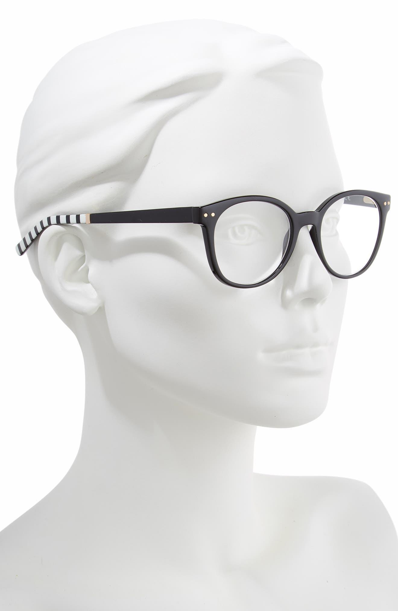 kaylin 49mm reading glasses,                             Alternate thumbnail 2, color,                             BLACK