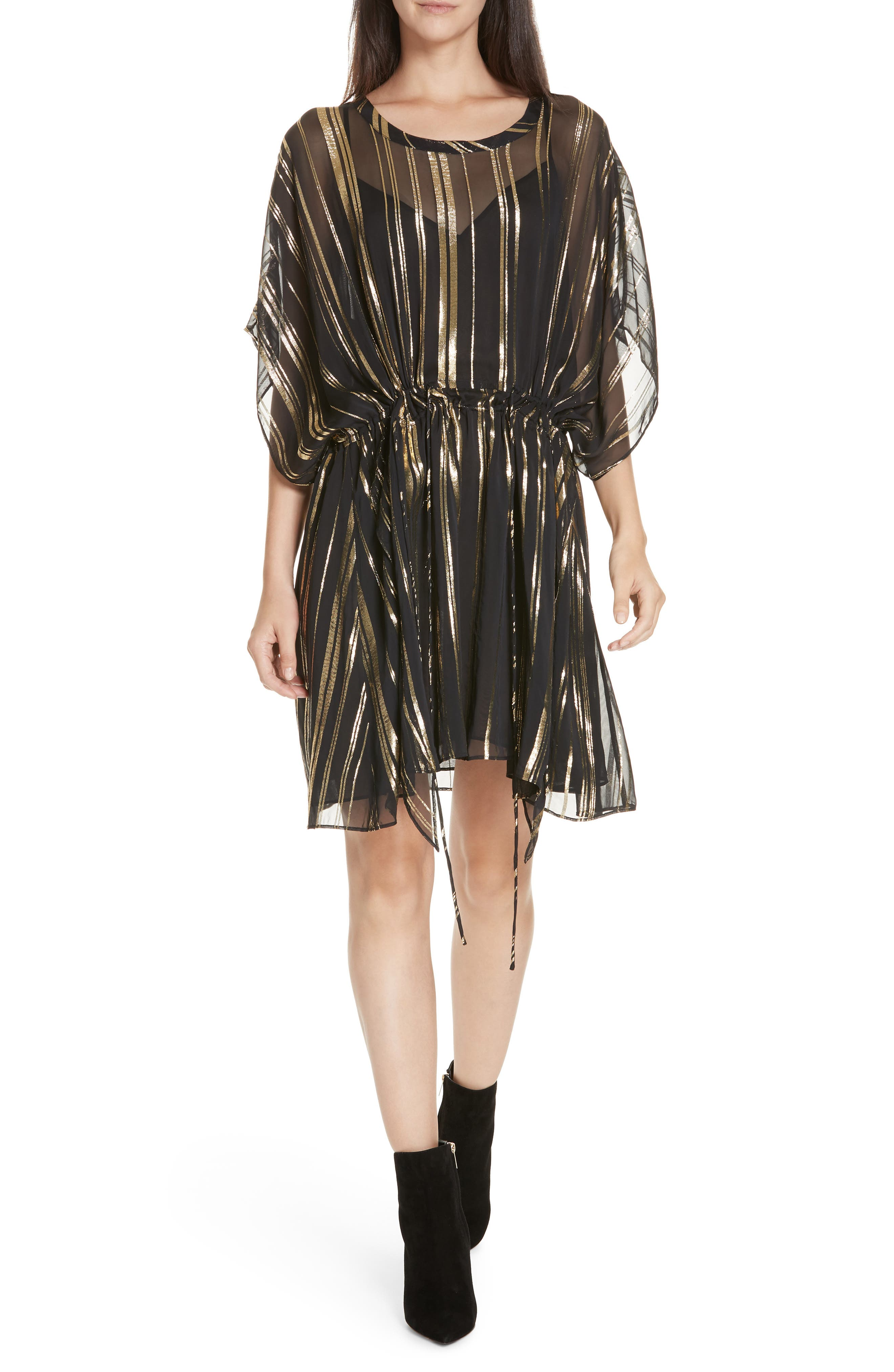 Iro Enhance Metallic Stripe Dress, US / 40 FR - Black
