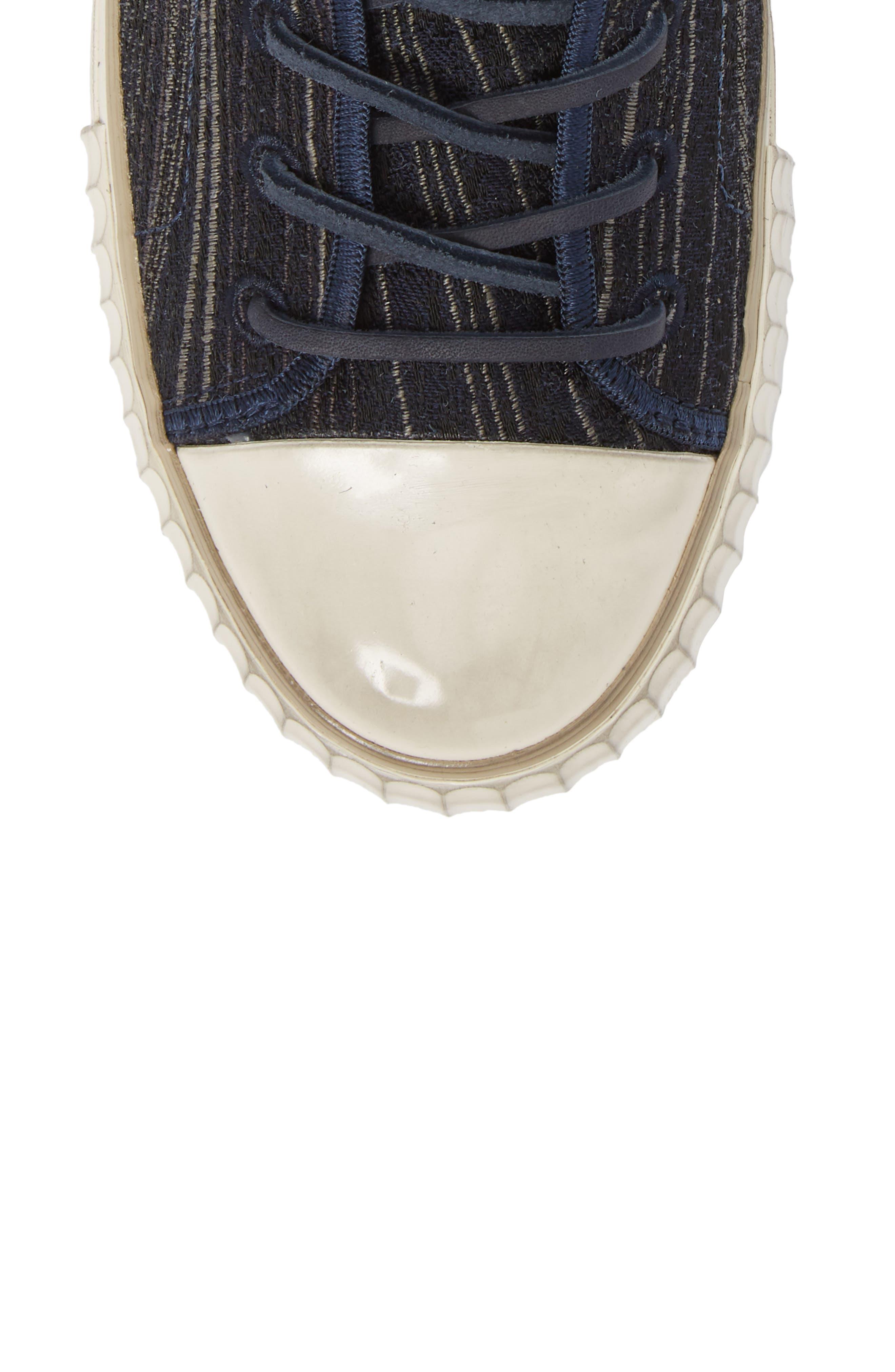 Mid Top Engineered Sneaker,                             Alternate thumbnail 5, color,                             414