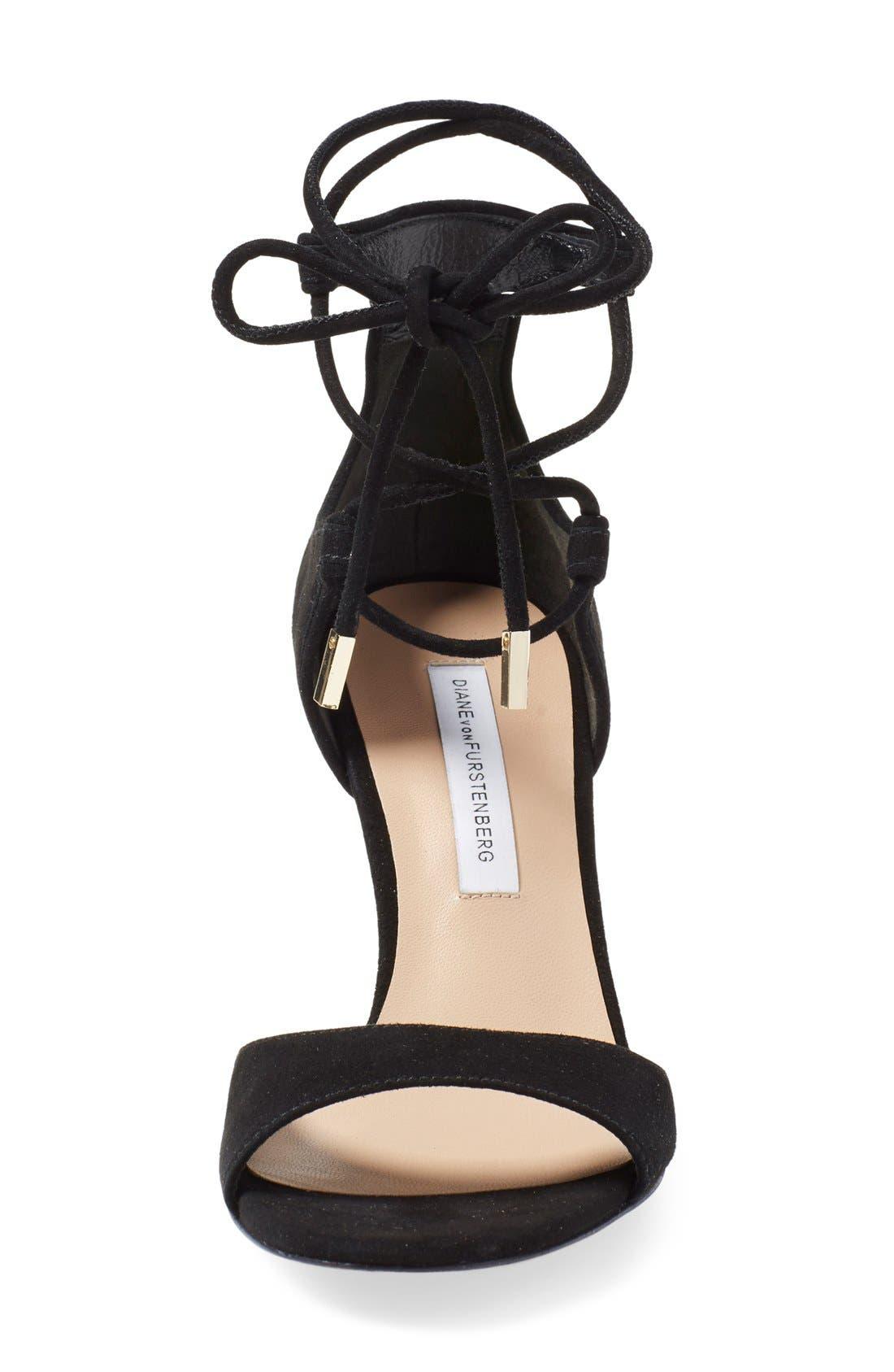 'Rimini' Ankle Wrap Sandal,                             Alternate thumbnail 3, color,                             001