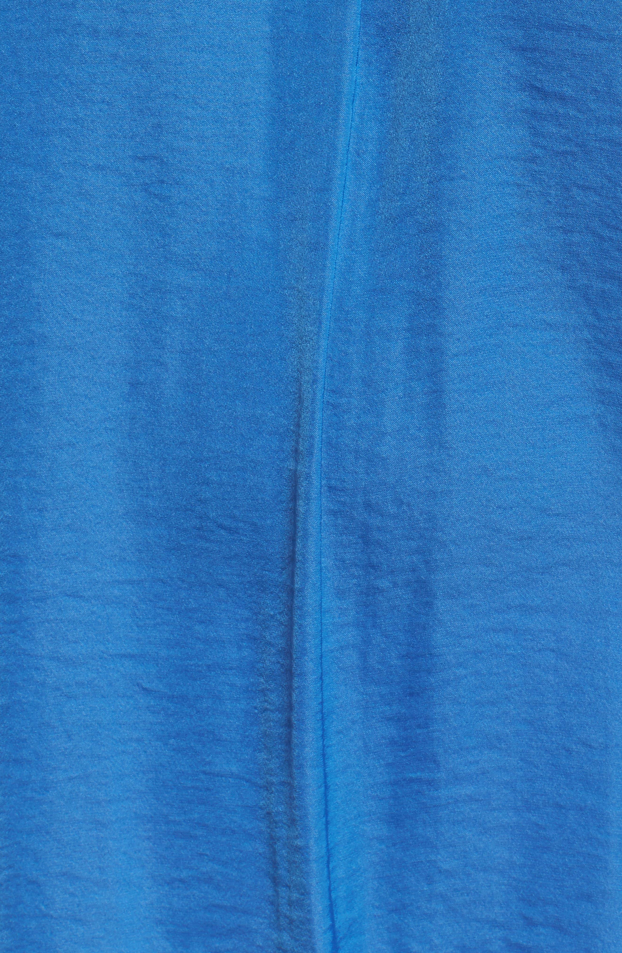 V-Neck Rumple Blouse,                             Alternate thumbnail 6, color,                             BLUE AURA