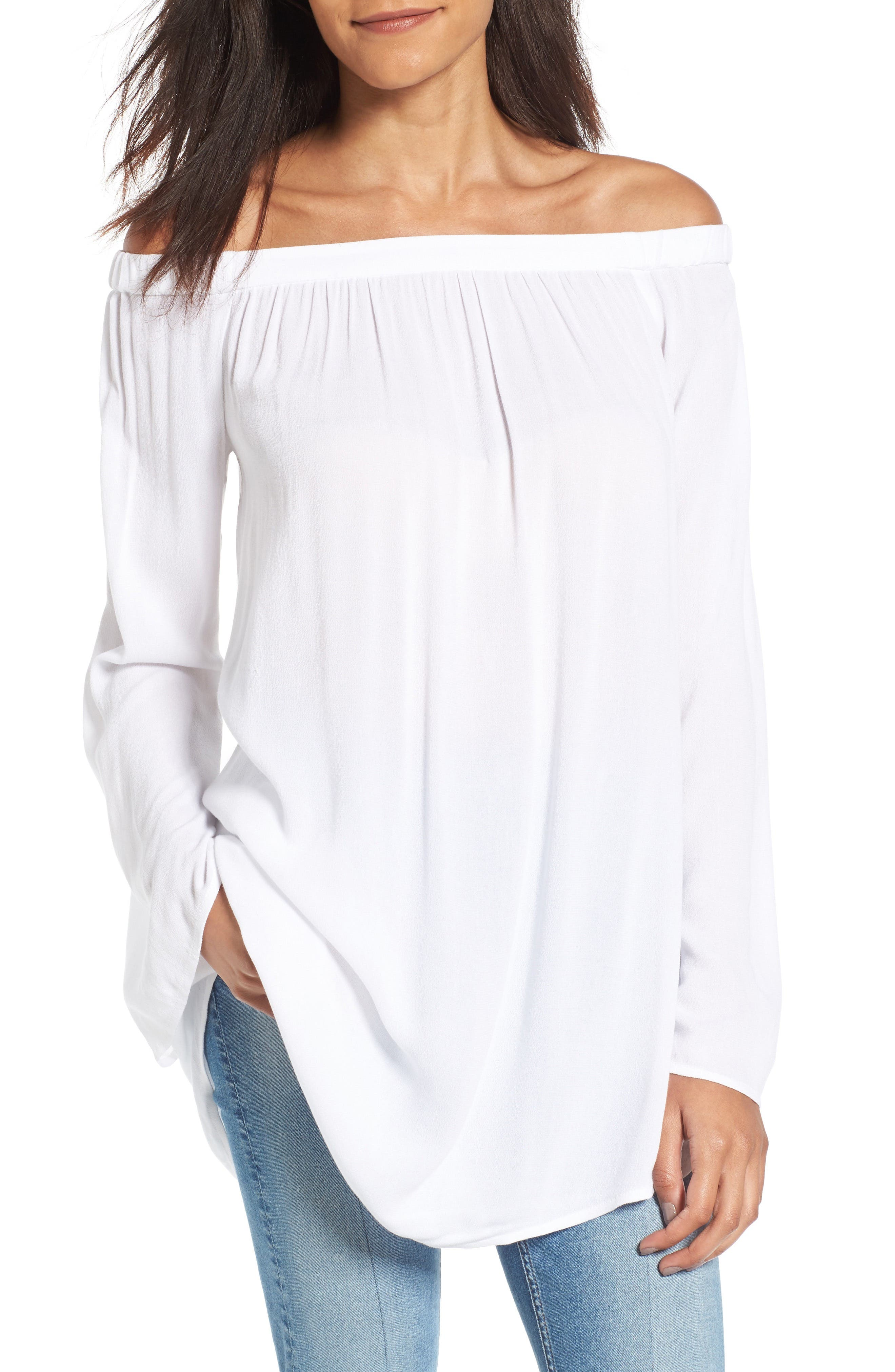 Off the Shoulder Tunic,                             Main thumbnail 3, color,