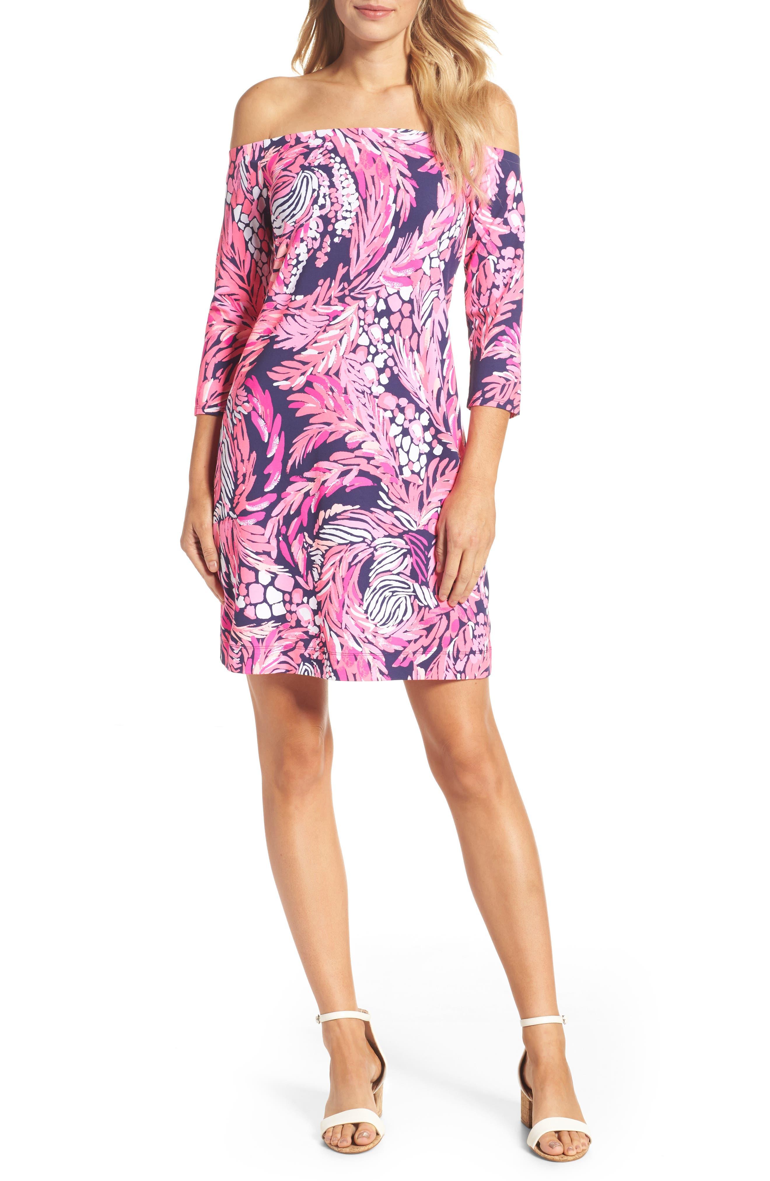 Laurana Off the Shoulder Sheath Dress,                         Main,                         color, 650