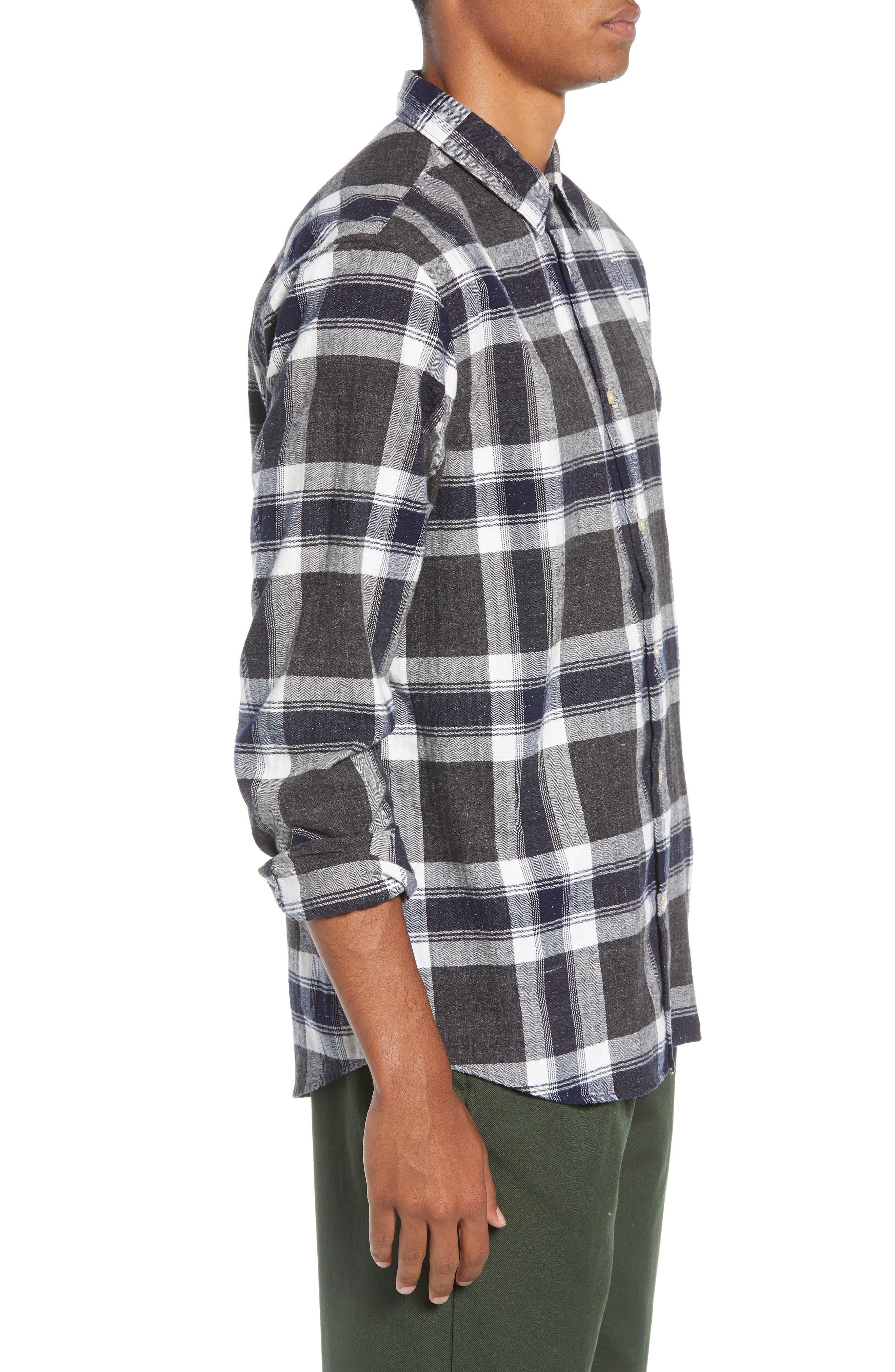 Herringbone Plaid Shirt,                             Alternate thumbnail 4, color,                             COMBO F