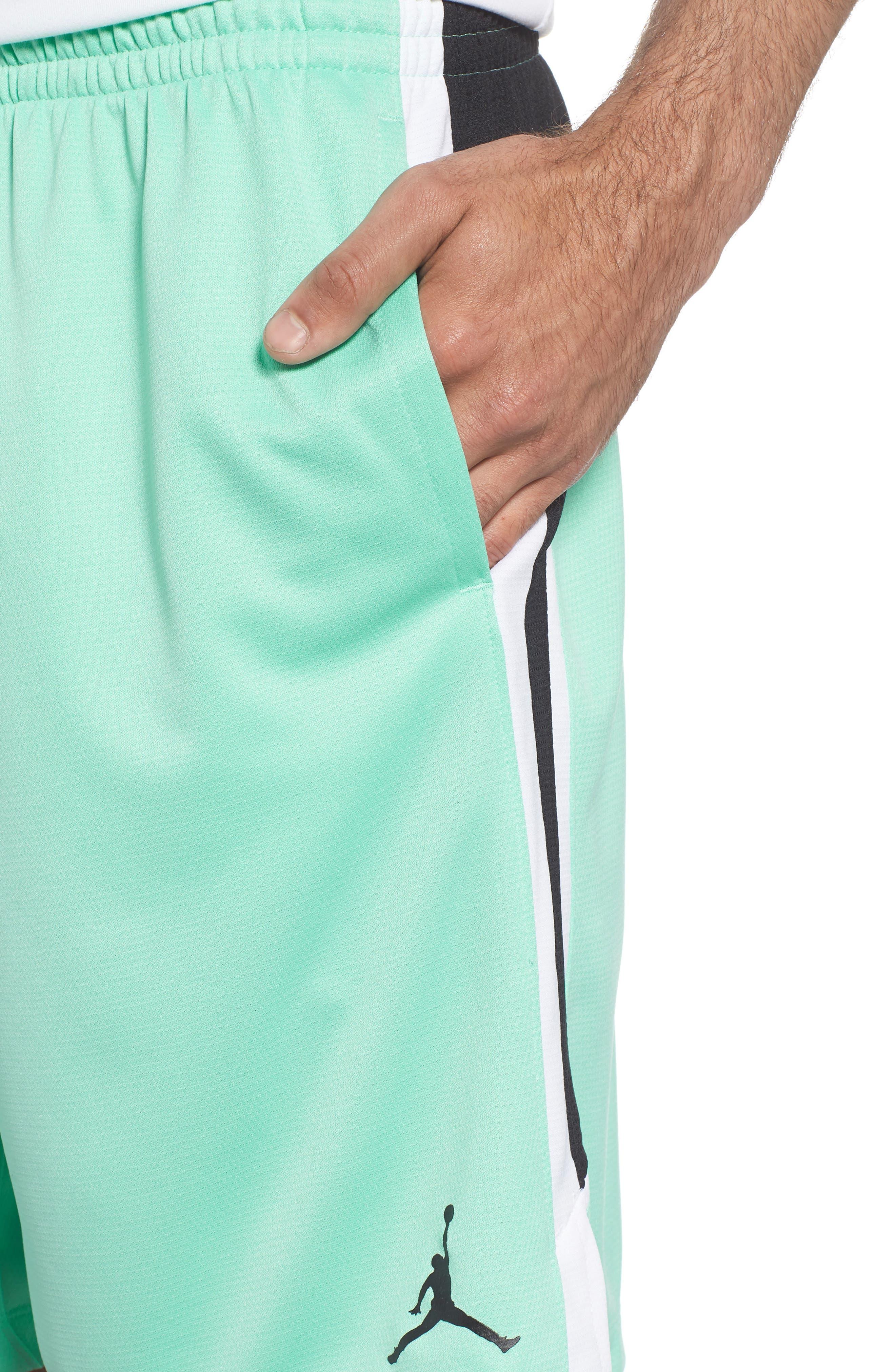 Jordan Dry Flight Shorts,                             Alternate thumbnail 4, color,                             EMERALD RISE/ BLACK/ WHITE