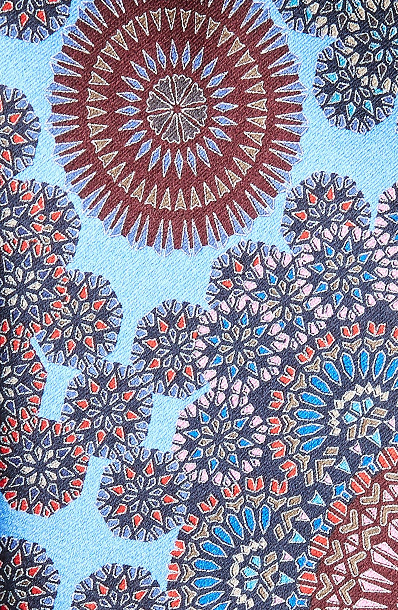 Quindici + Quindici Medallion Silk Tie,                             Alternate thumbnail 2, color,                             BLUE