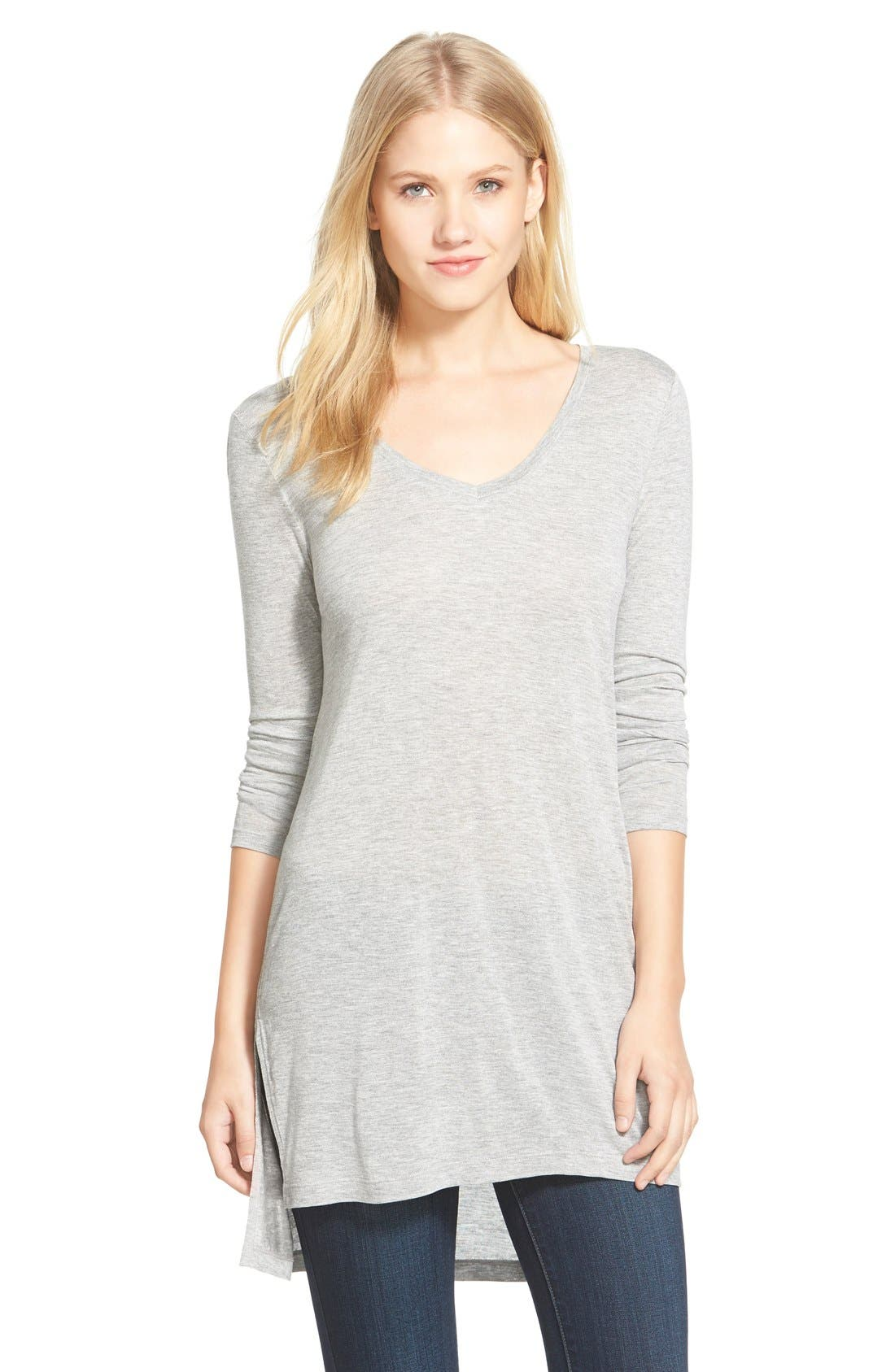 Long Sleeve Lightweight Tunic,                             Main thumbnail 5, color,