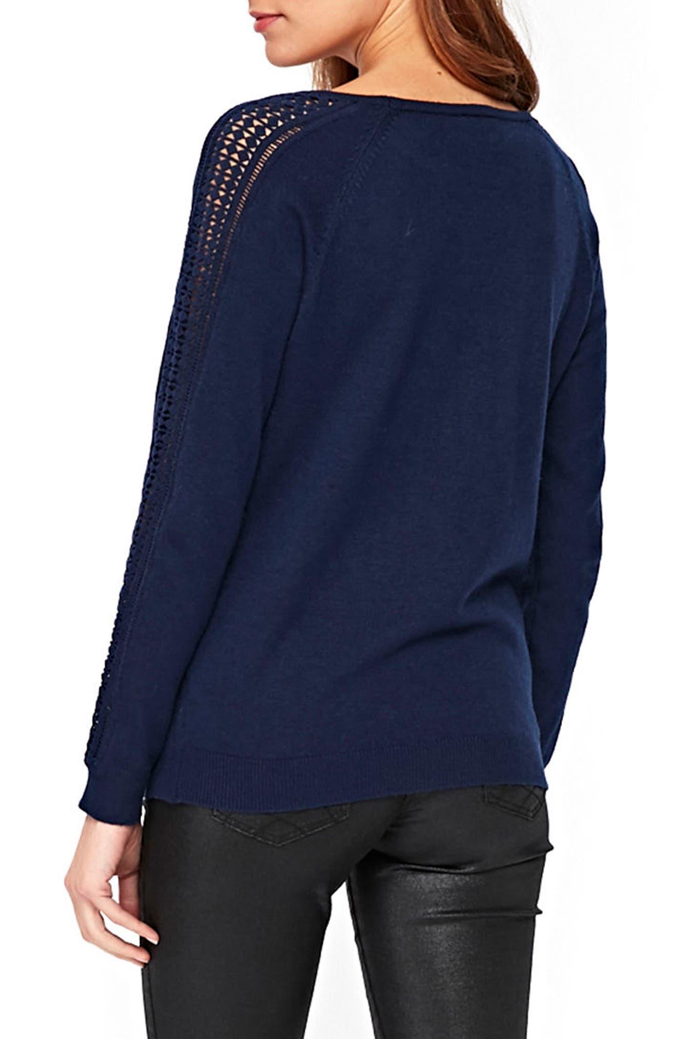 Lace Trim Sweater,                             Alternate thumbnail 2, color,                             400