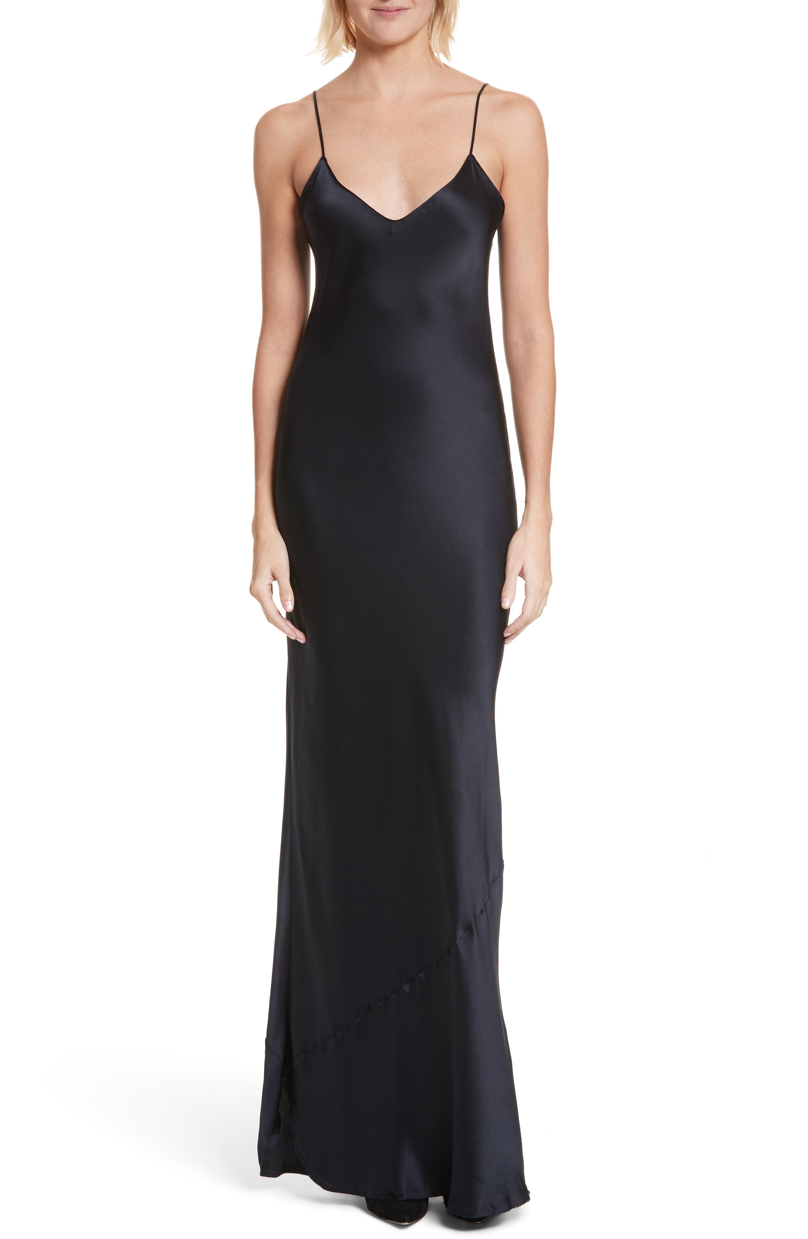 Silk Camisole Gown,                         Main,                         color, 410
