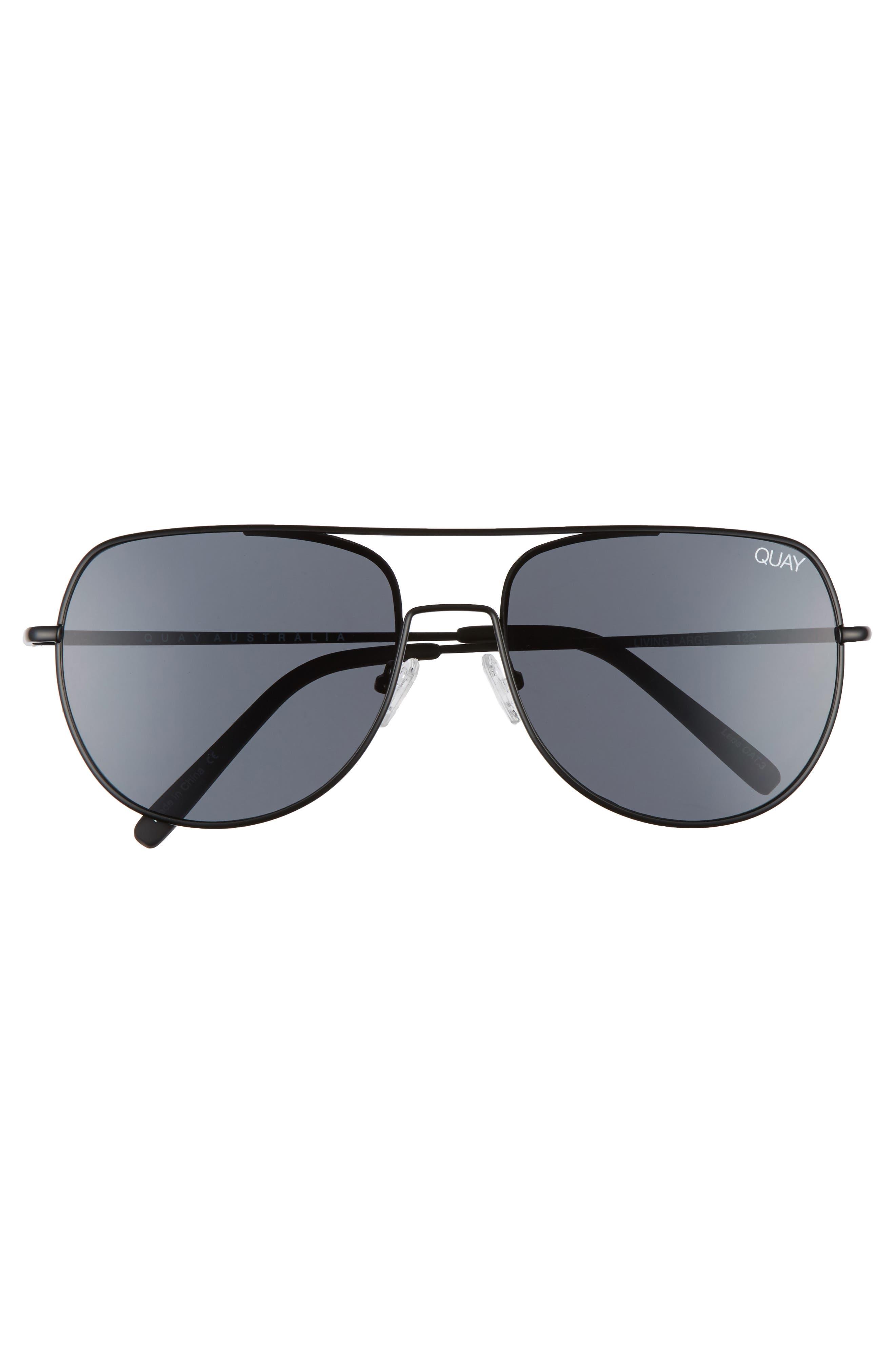 Living Large 61mm Aviator Sunglasses,                             Alternate thumbnail 2, color,                             001