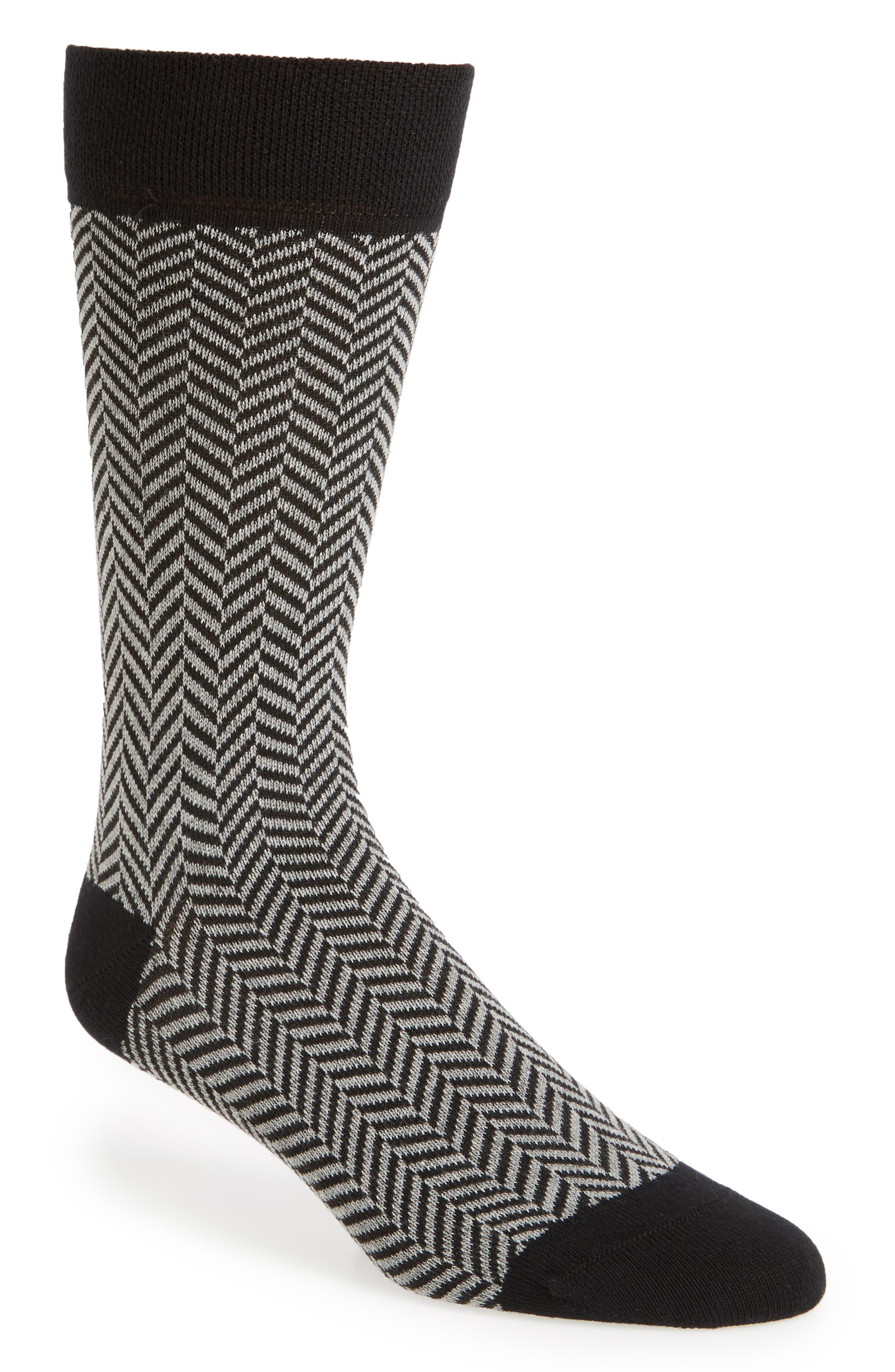 Ronimow Herringbone Socks,                             Main thumbnail 1, color,                             001
