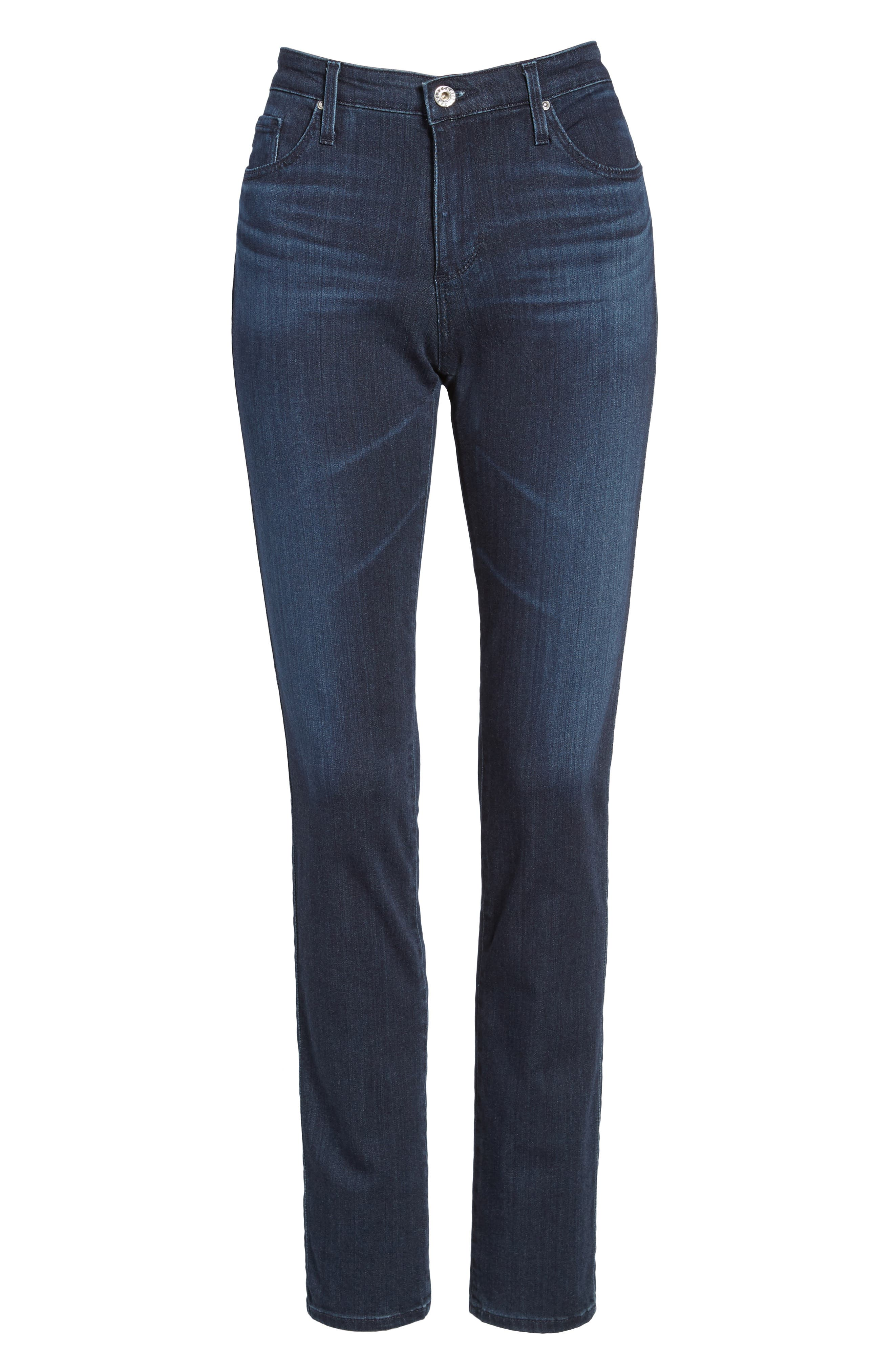 'The Prima' Mid Rise Cigarette Skinny Jeans,                             Alternate thumbnail 7, color,                             GALLANT