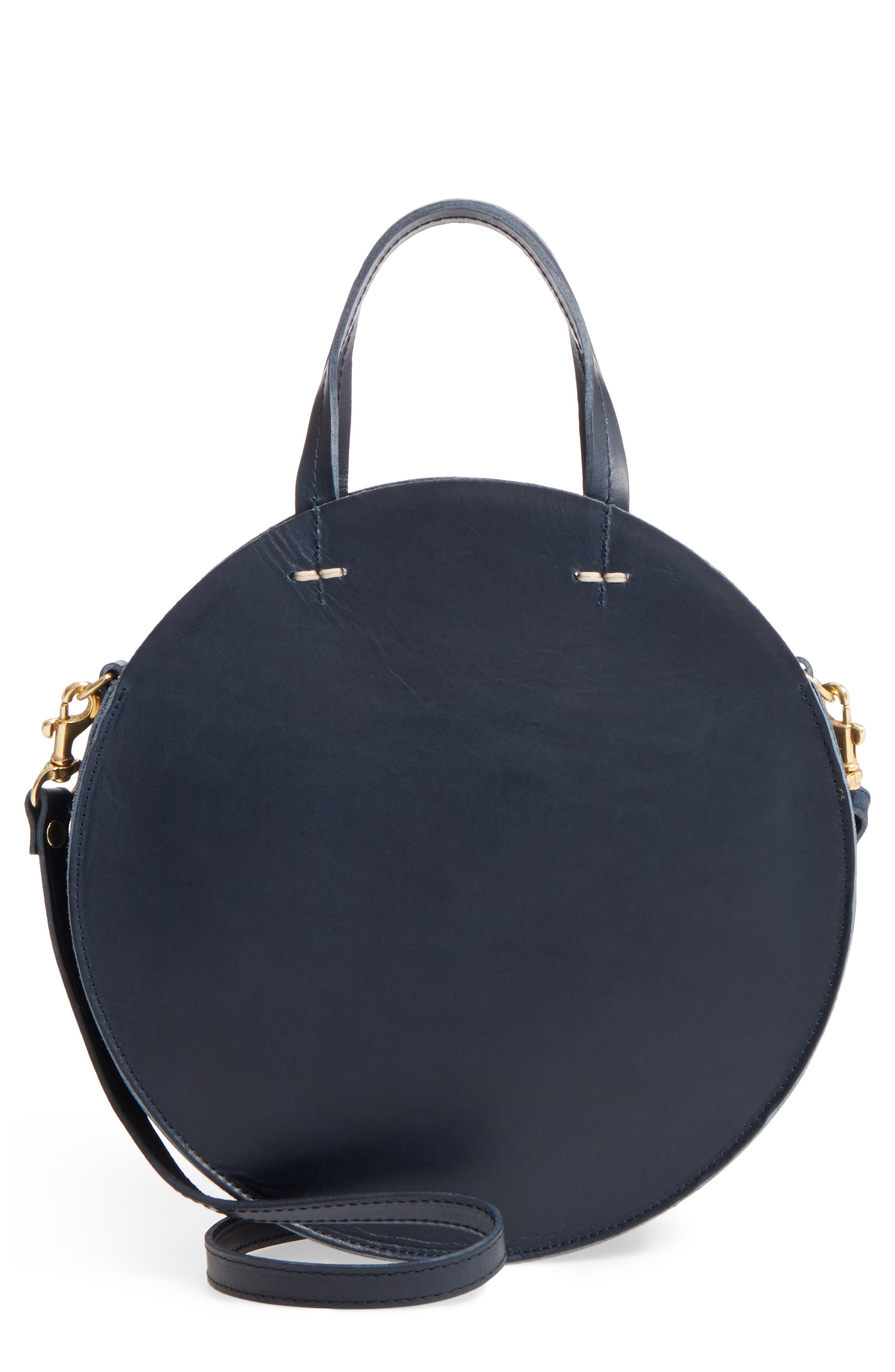 Petite Alistair Leather Circular Crossbody Bag,                             Main thumbnail 1, color,