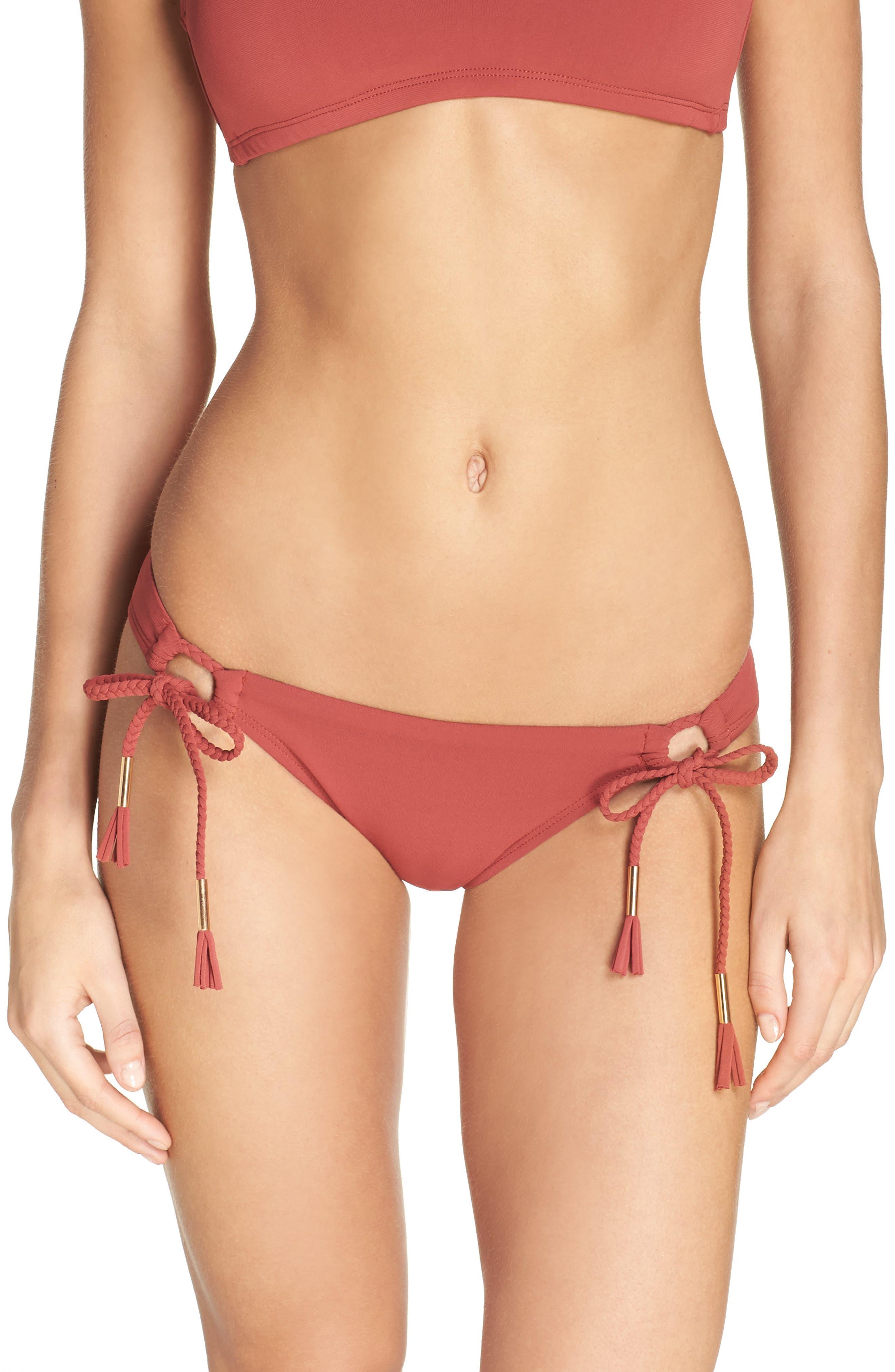Side Tie Bikini Bottoms,                             Main thumbnail 6, color,