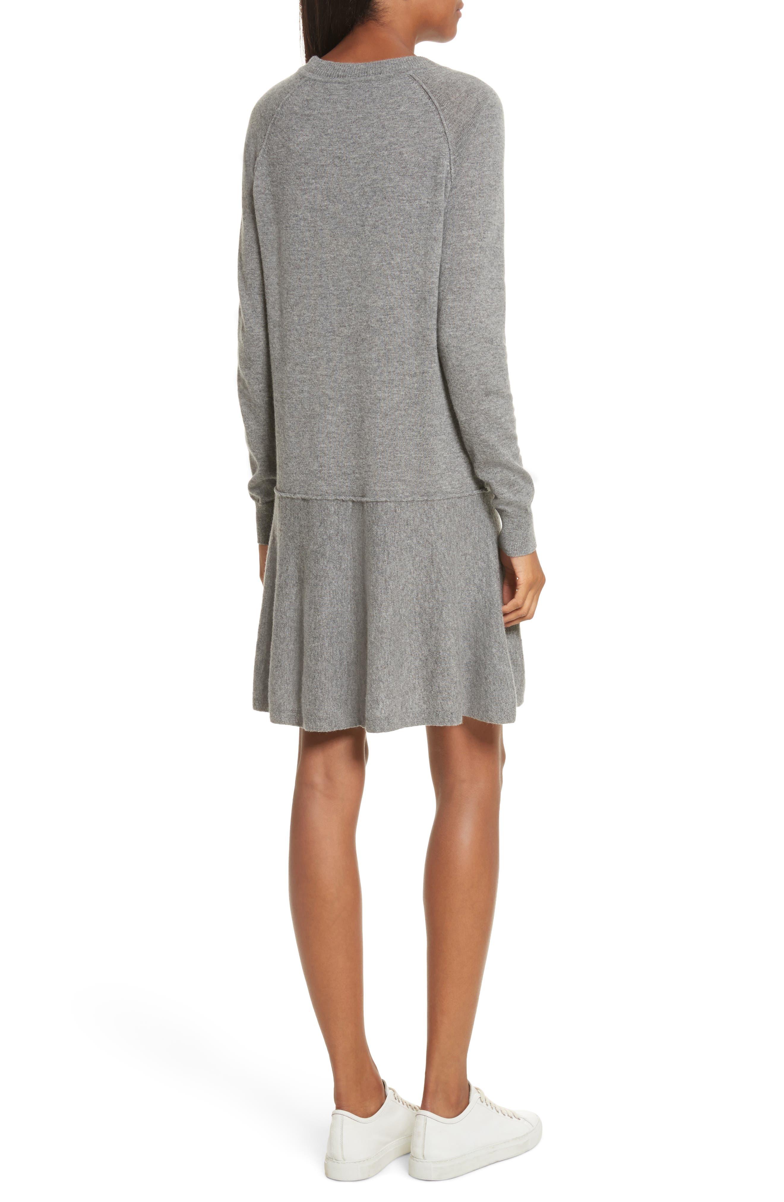 Cashmere Drop Waist Sweater Dress,                             Alternate thumbnail 2, color,                             027