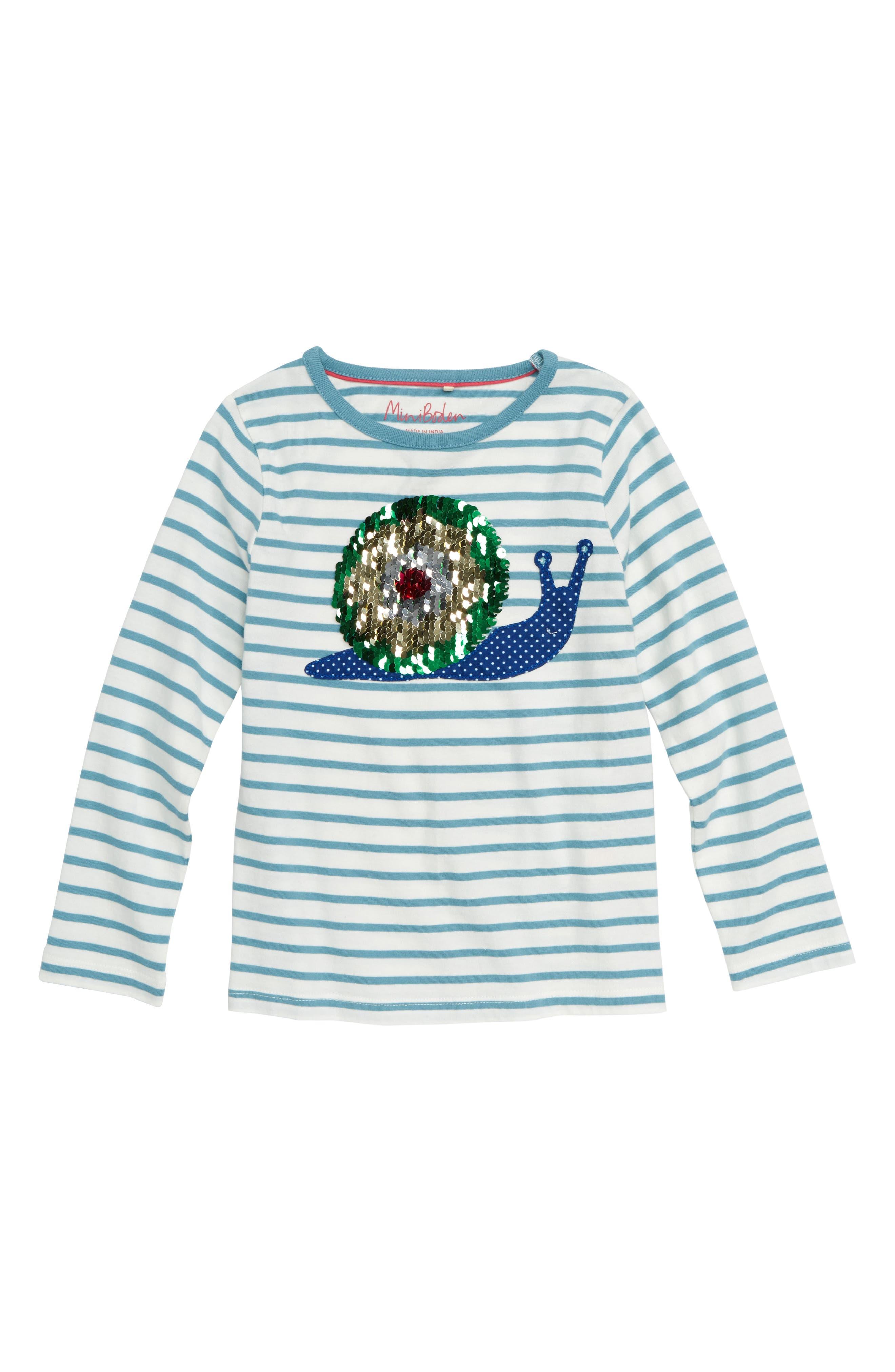 MINI BODEN Sequin Color Change Shirt, Main, color, 454